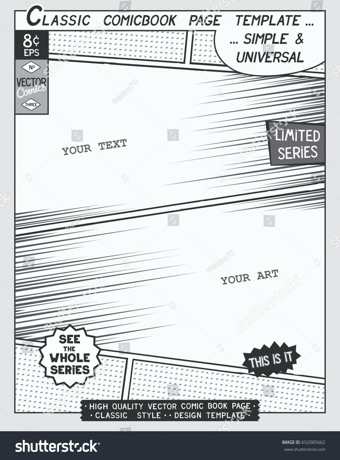 Download comic strip template pages for creative for Comic book page template psd