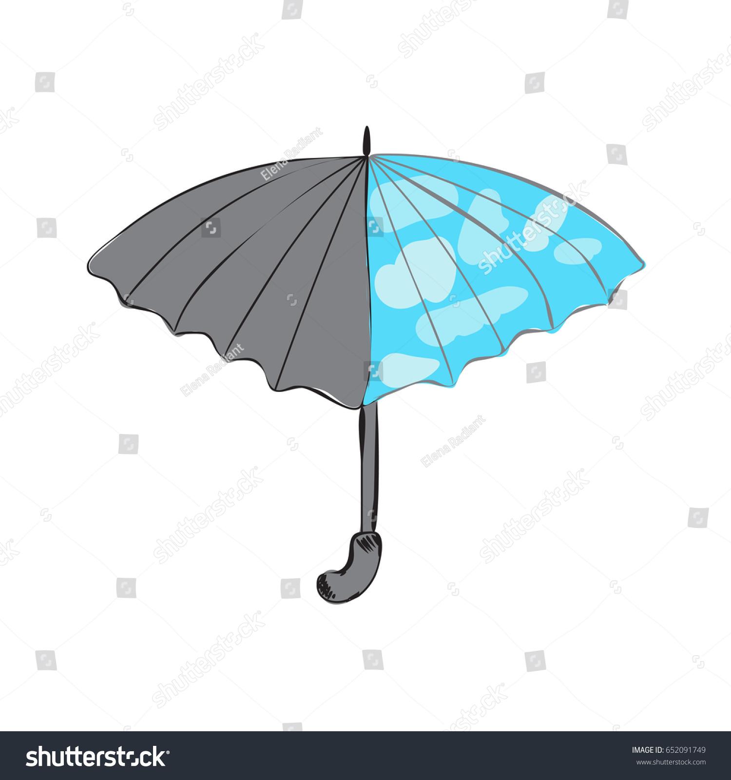 Unusual Umbrella Abstraction Clouds Stock Vector 652091749 ...