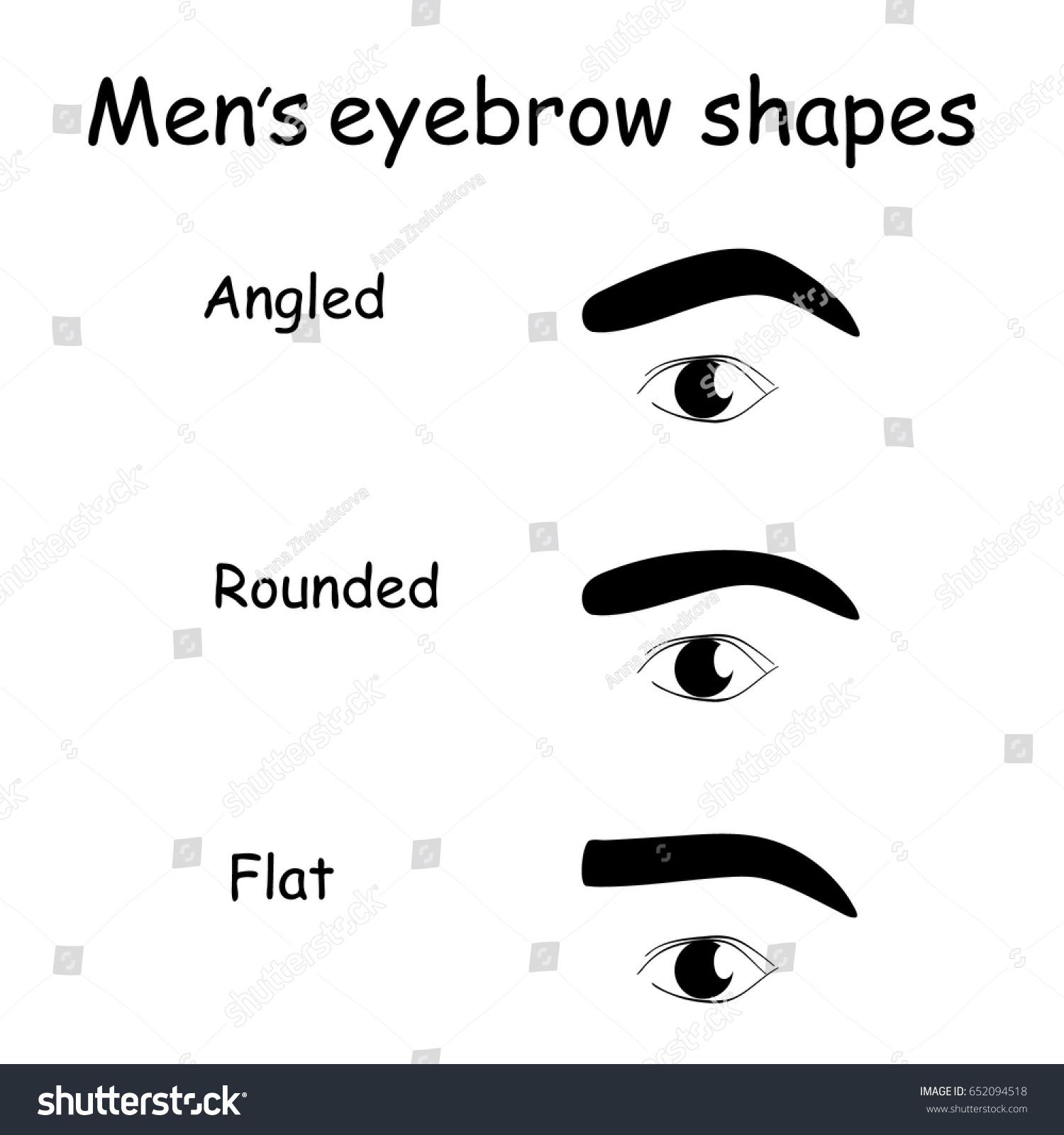Male Eyes Eyebrows Vector Elements Illustration Stock Vector