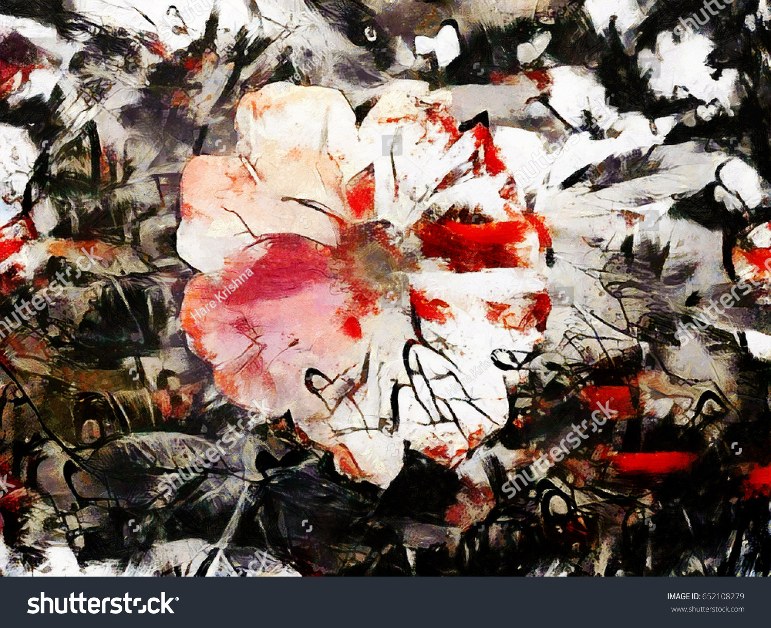 Red black abstract flowers bouquets style stock illustration red and black abstract flowers and bouquets in the style of jackson pollock grunge art izmirmasajfo Choice Image