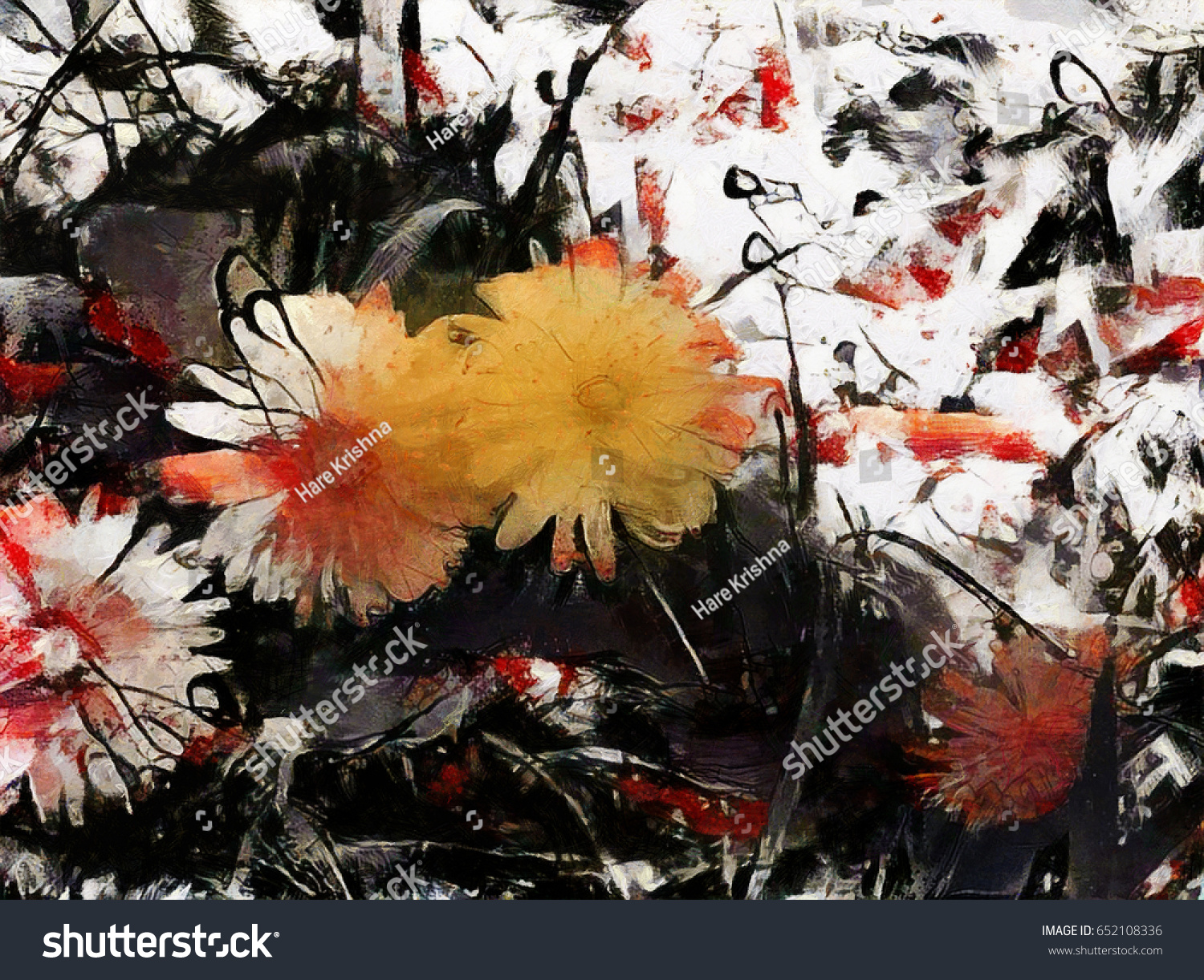 Red black abstract flowers bouquets style stock illustration red and black abstract flowers and bouquets in the style of jackson pollock grunge art izmirmasajfo