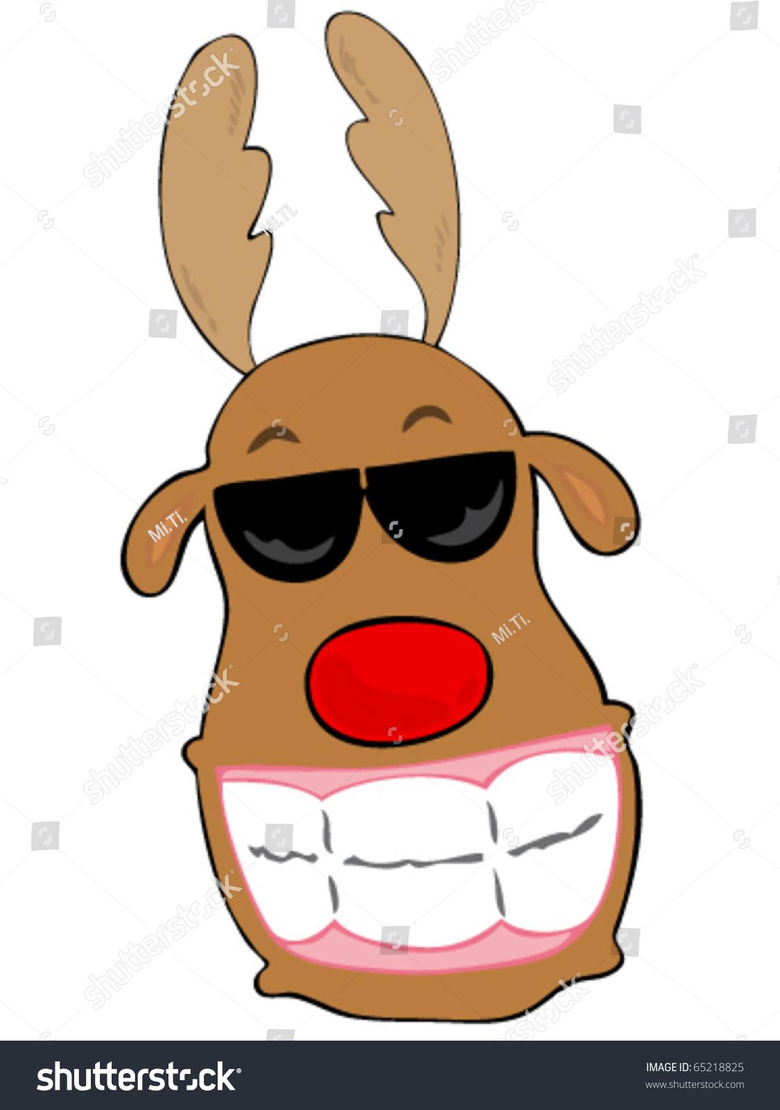 smiling reindeer stock vector 65218825 shutterstock
