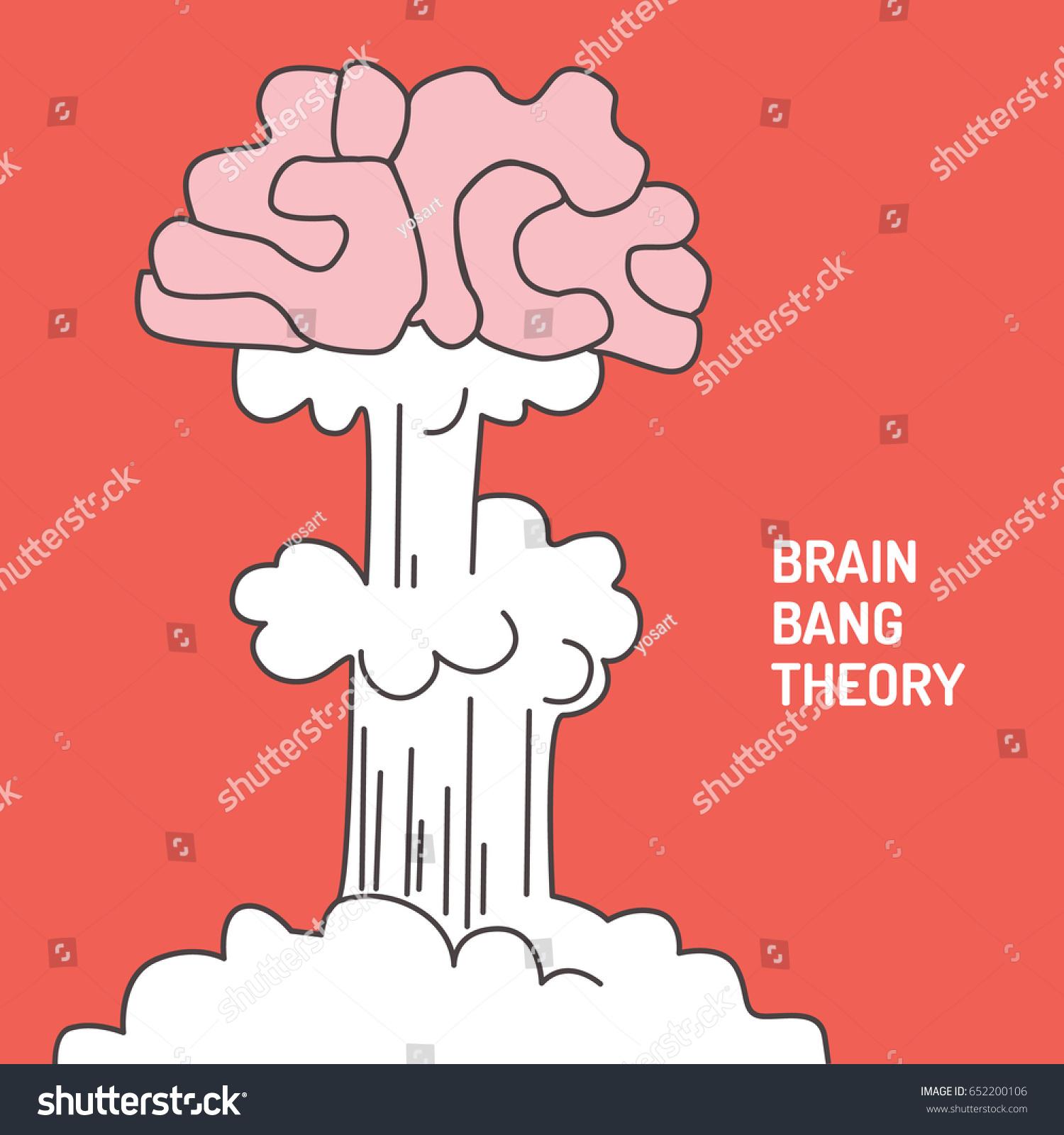 Funny Interpretation Big Bang Theory Explosion Stock Vector