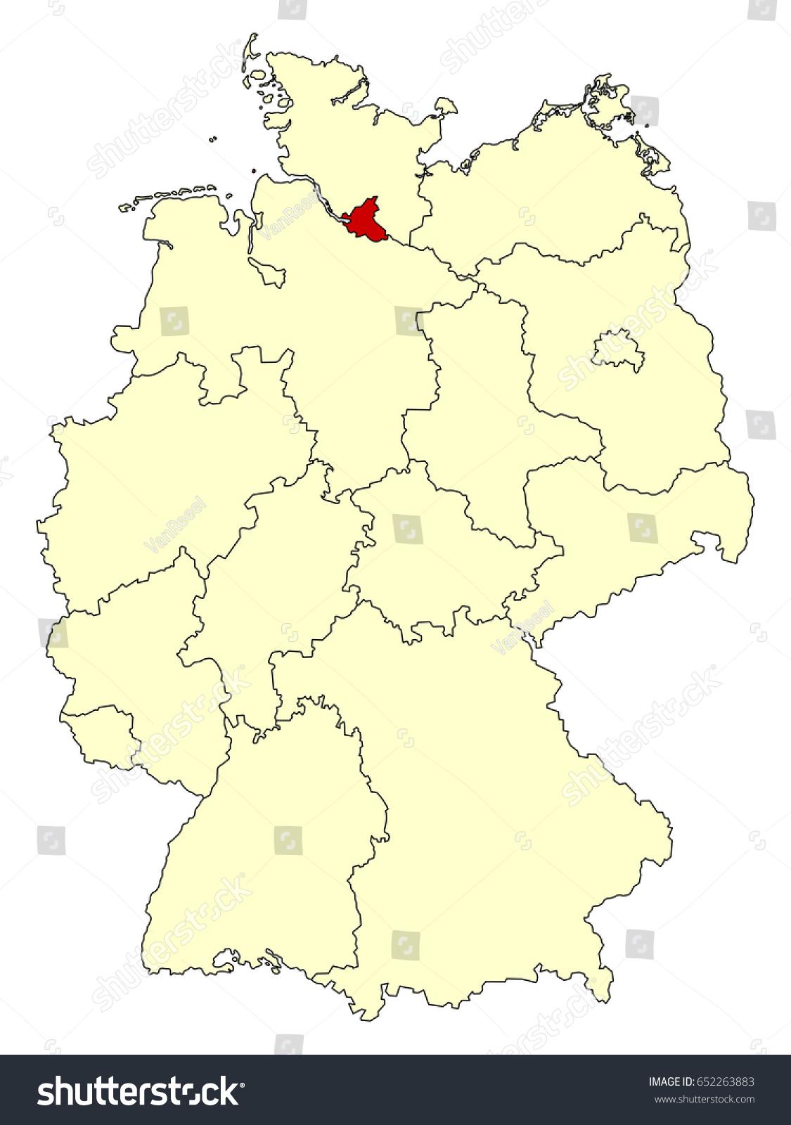 Hamburg Germany Map Star Map App - Germany map eps