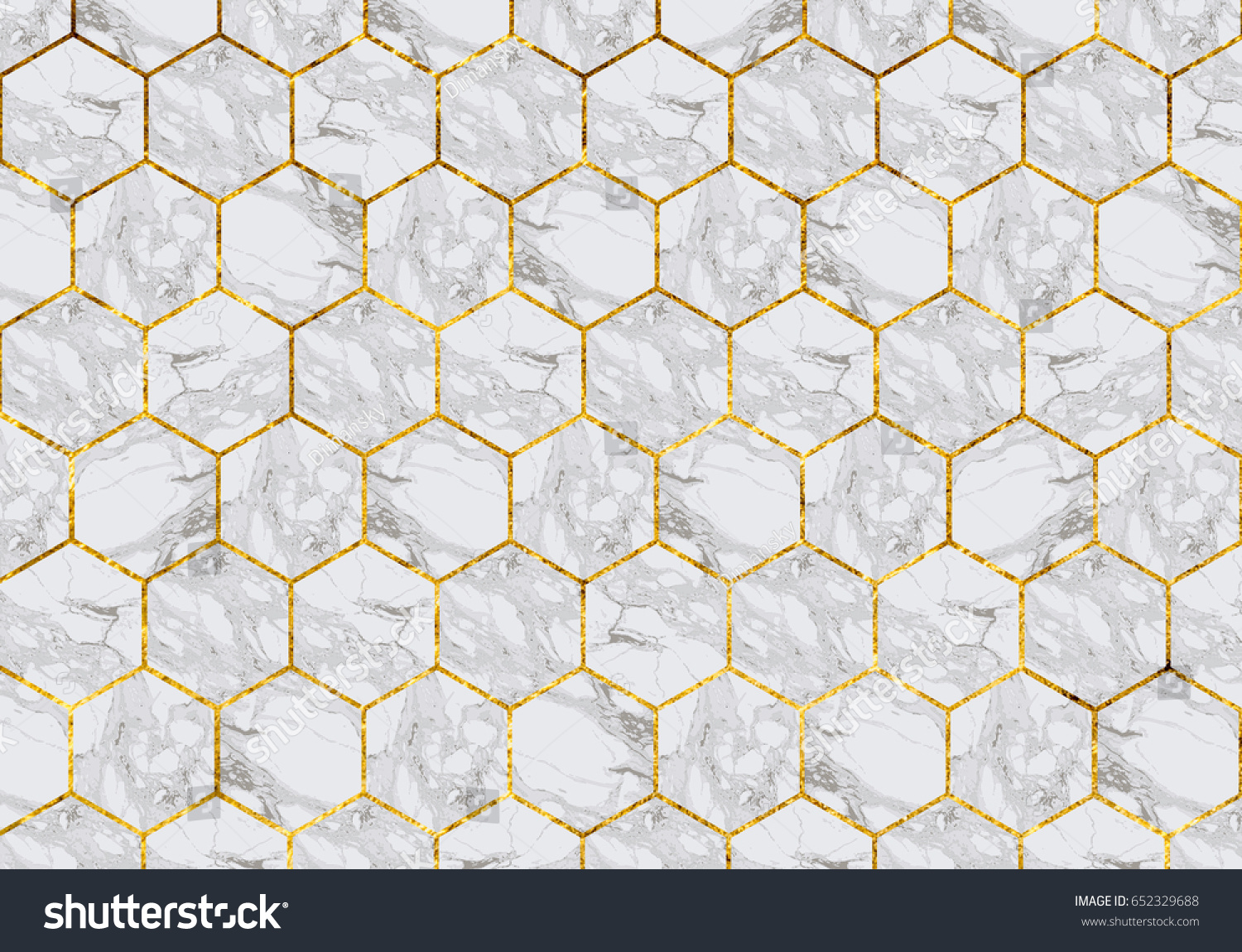 Marble Tiles Gold Grout Stock Photo 652329688 - Shutterstock