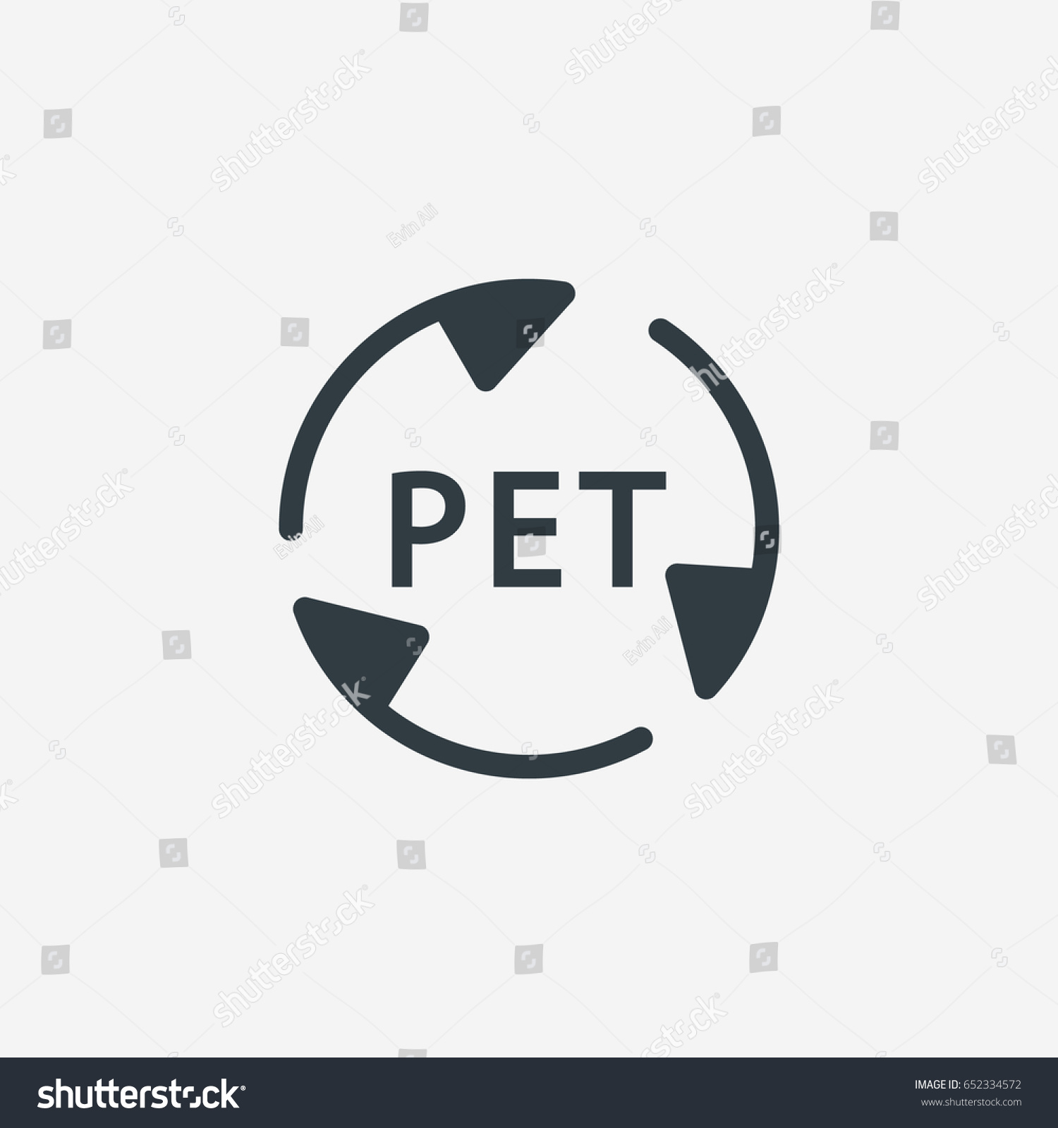 Plastic Recycle Symbol Pet Plastic Recycling Stock Vector Royalty