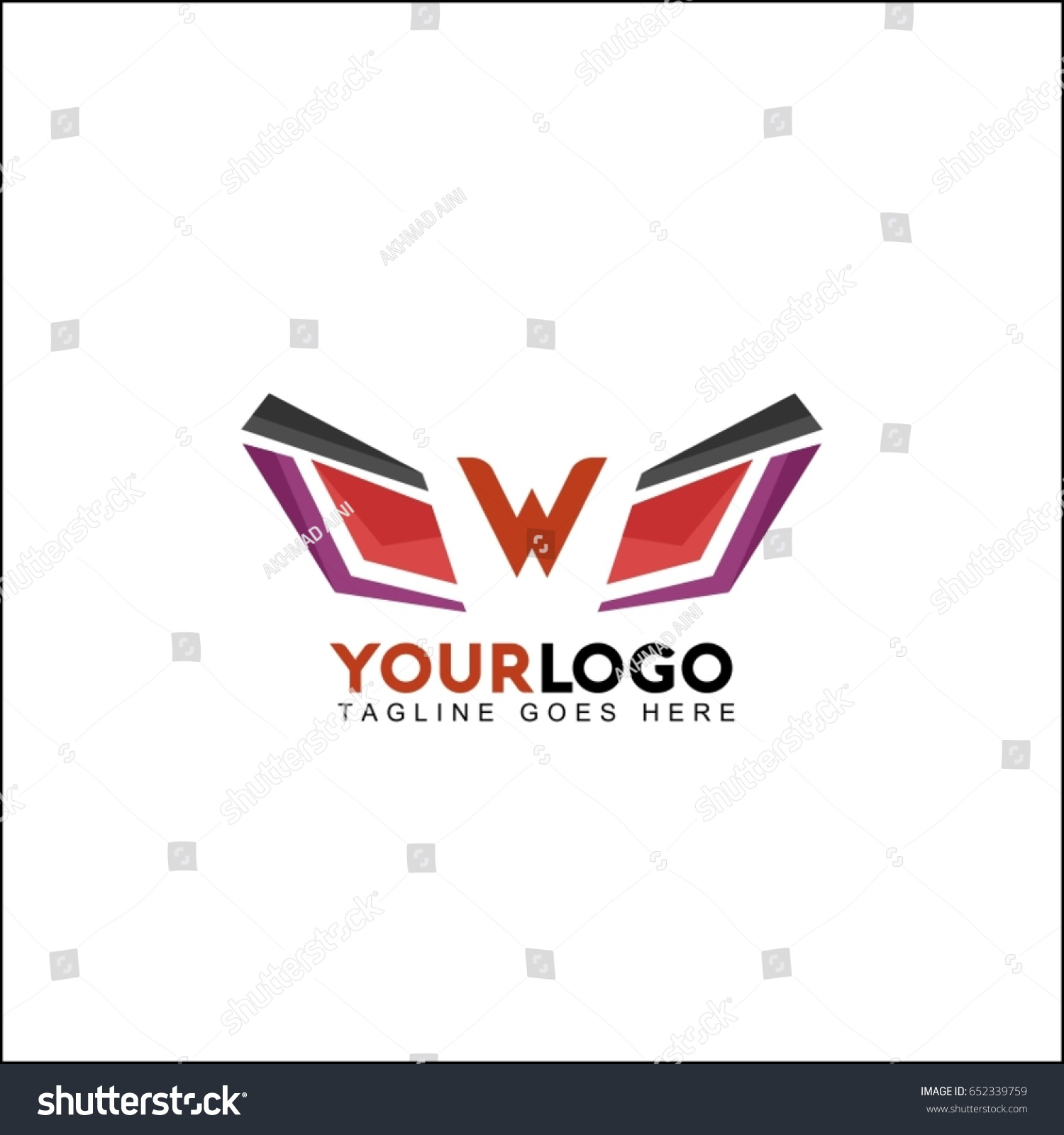 W letter symbol identity abstract wing stock vector 652339759 w letter symbol identity abstract wing reflect logo double infinity loop logo design template buycottarizona