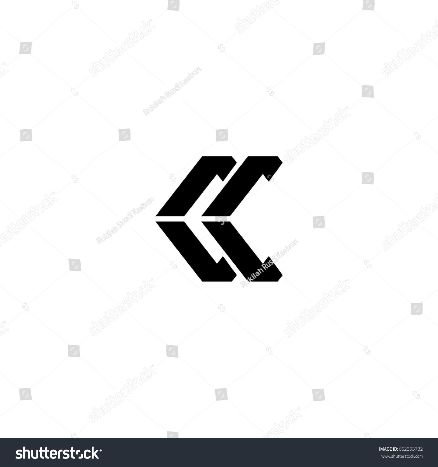 Cc Letter Logo Kk Letetr Logo Stock Vector   Shutterstock
