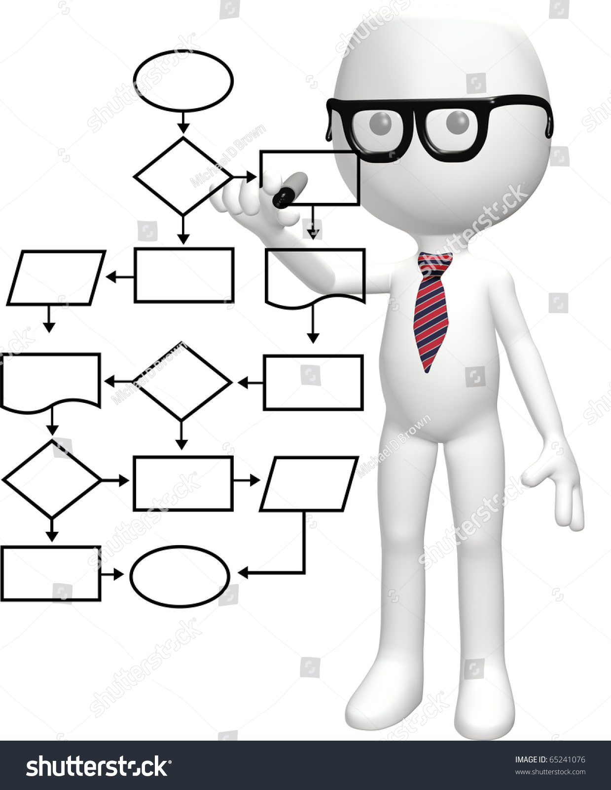 Cartoon nerd genius programs smart flowchart stock illustration a cartoon nerd genius programs a smart flowchart process management system nvjuhfo Choice Image