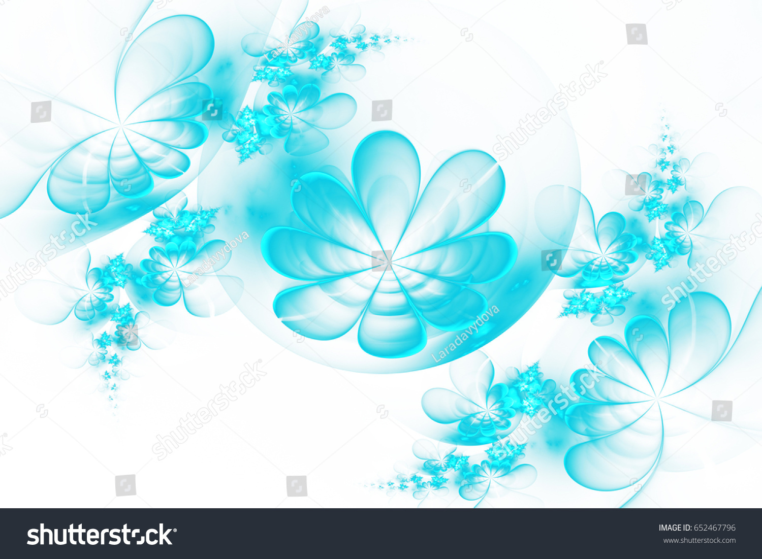 Abstract blue flowers on white background stock illustration abstract blue flowers on a white background computer generated image izmirmasajfo