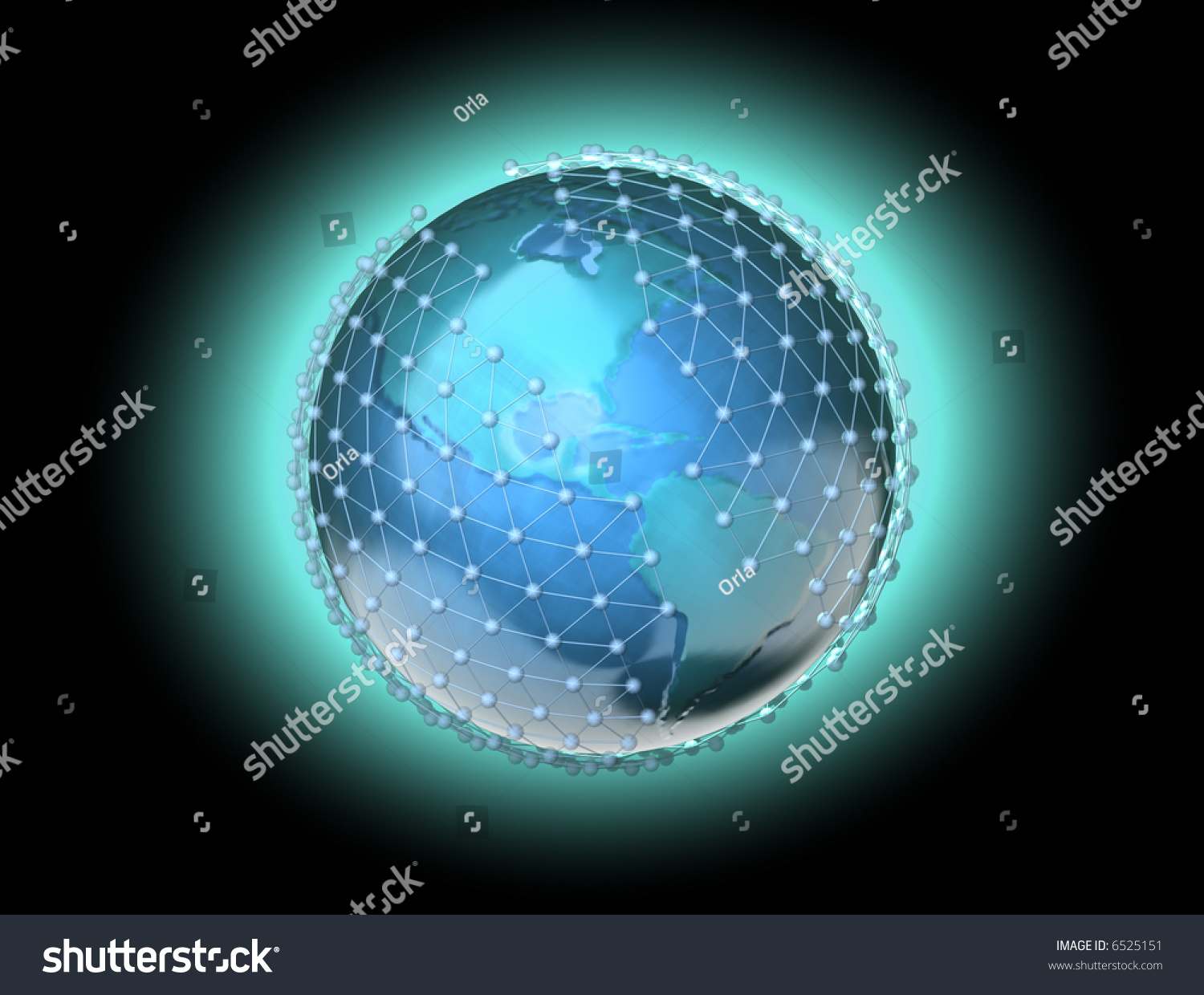 Conceptual Mapped Continents Earth Planet Wire Stock Illustration ...