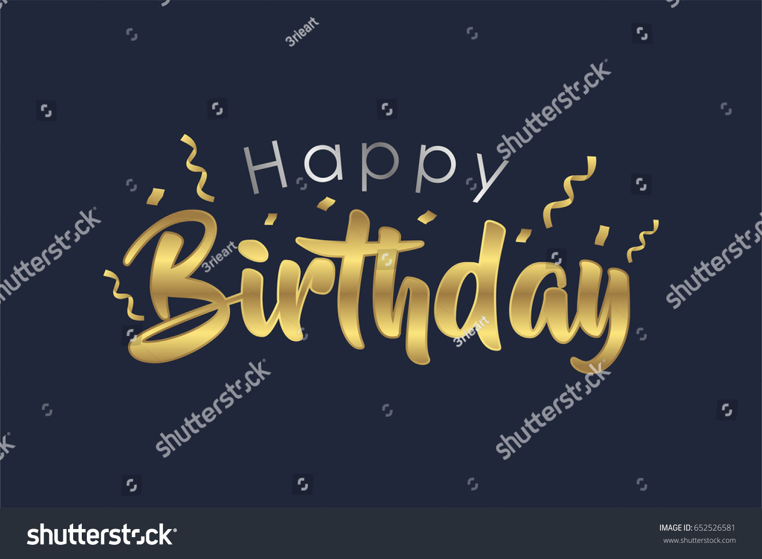 Gold silver happy birthday letter design stock vector 652526581 gold and silver happy birthday letter design for greeting cards birthday card invitation card stopboris Choice Image