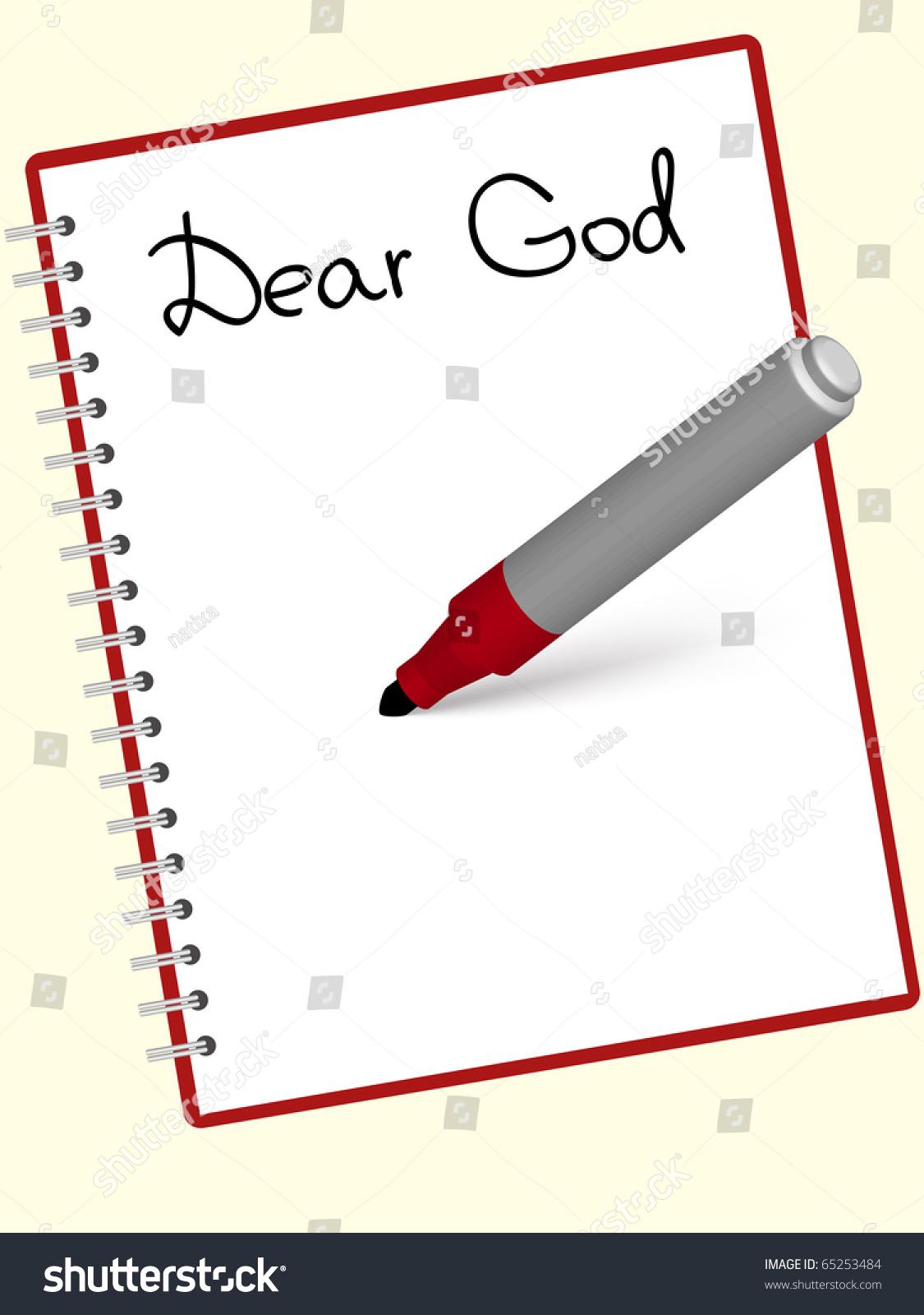 Letter God Written Notebook Stock Vector Shutterstock