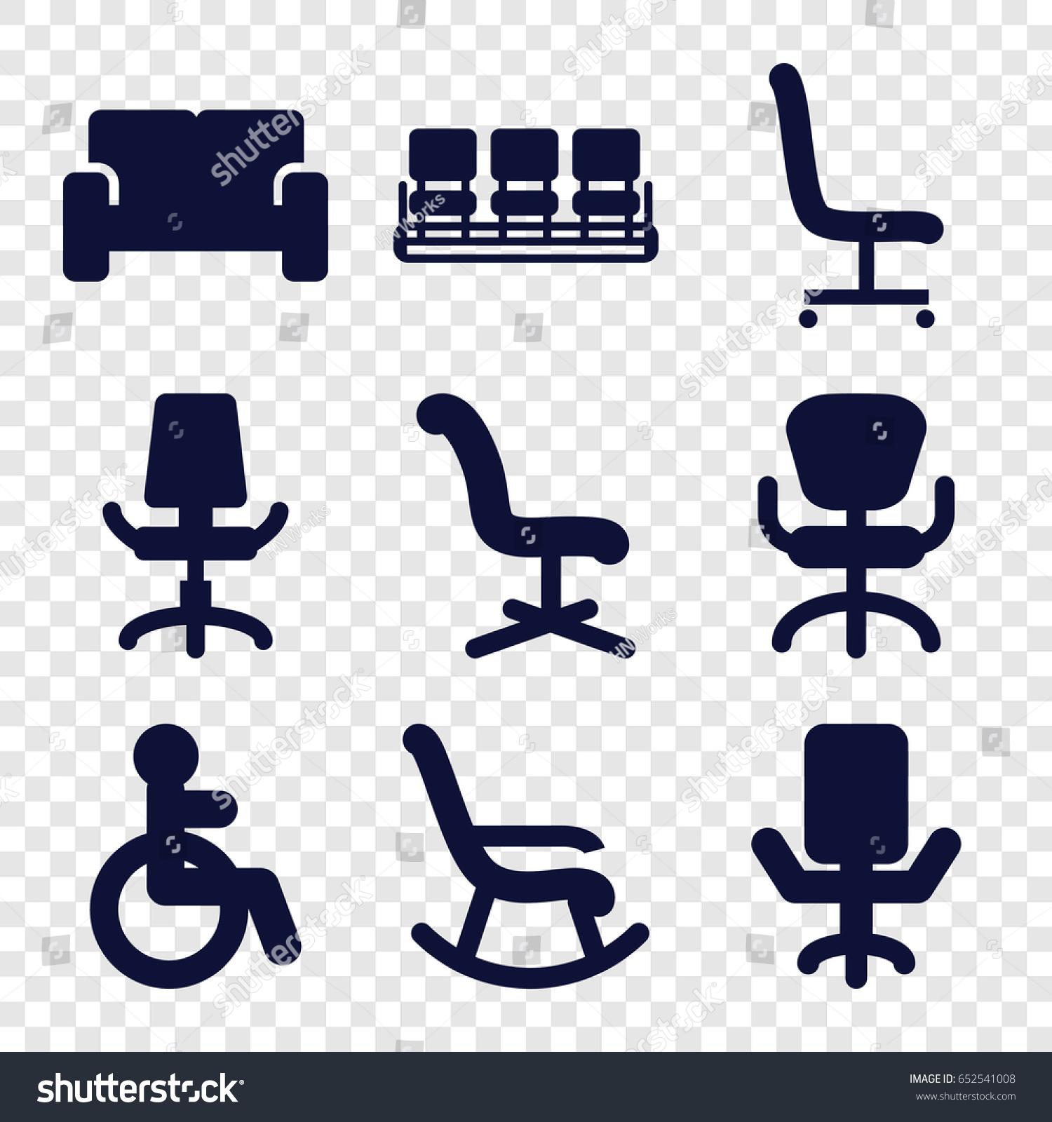 Armchair Icons Set Set 9 Armchair Stock Vector 652541008 - Shutterstock