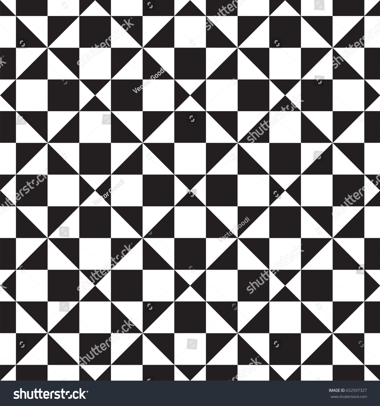 Geometric Design Pattern Black White Stockvector Rechtenvrij
