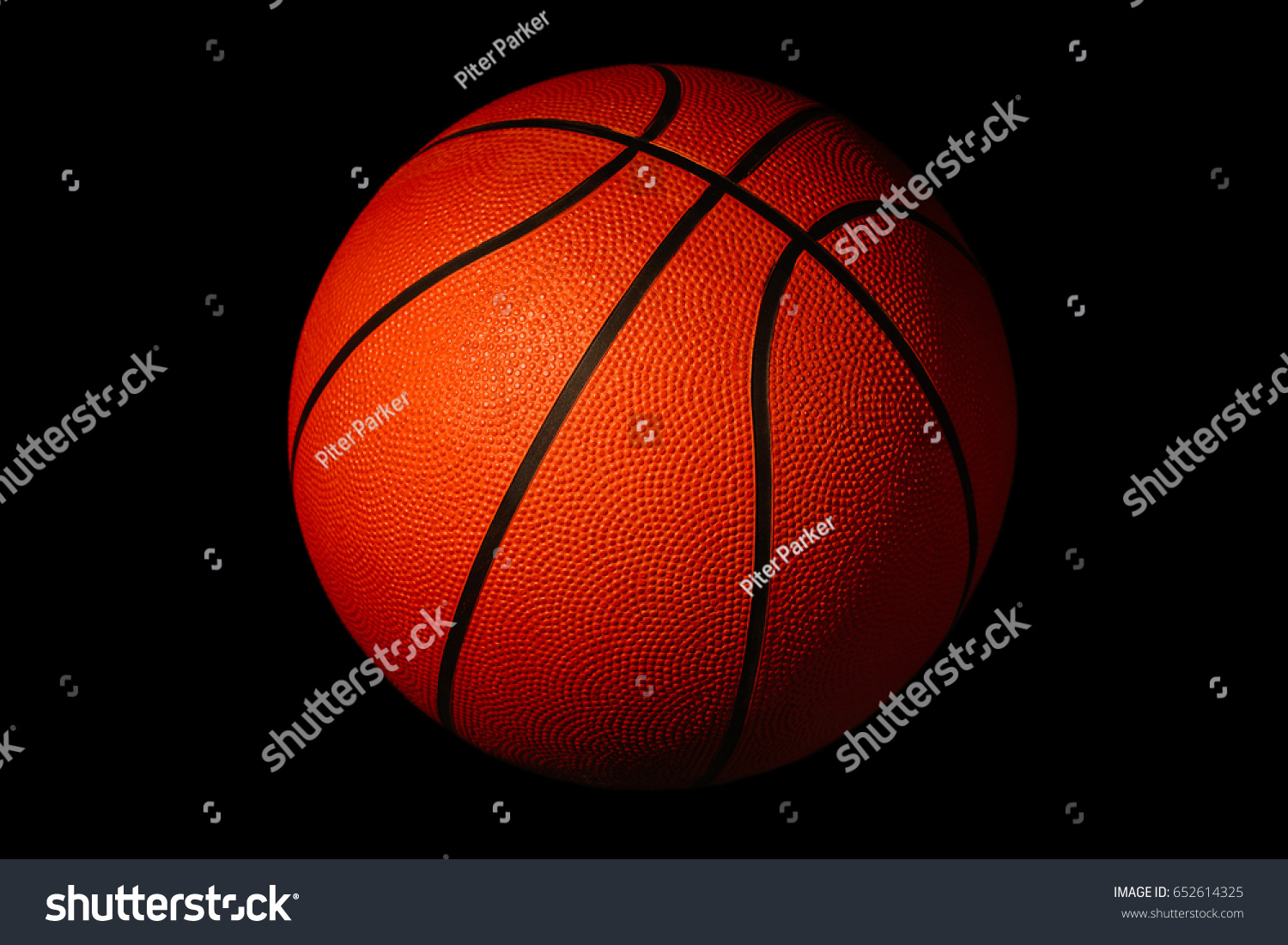 Basketball isolated on black background sports stock photo 652614325 basketball isolated on a black background as a sports and fitness symbol buycottarizona Choice Image