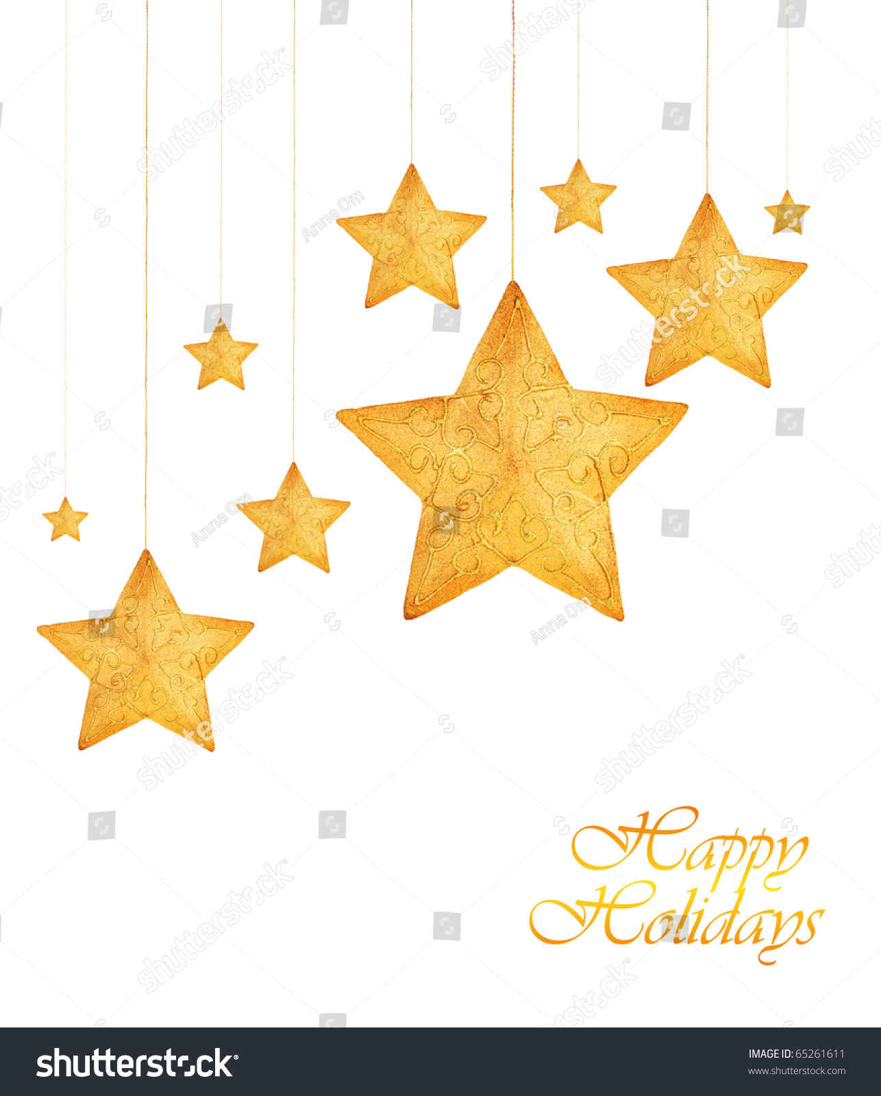 Gold star ornaments - Save To A Lightbox