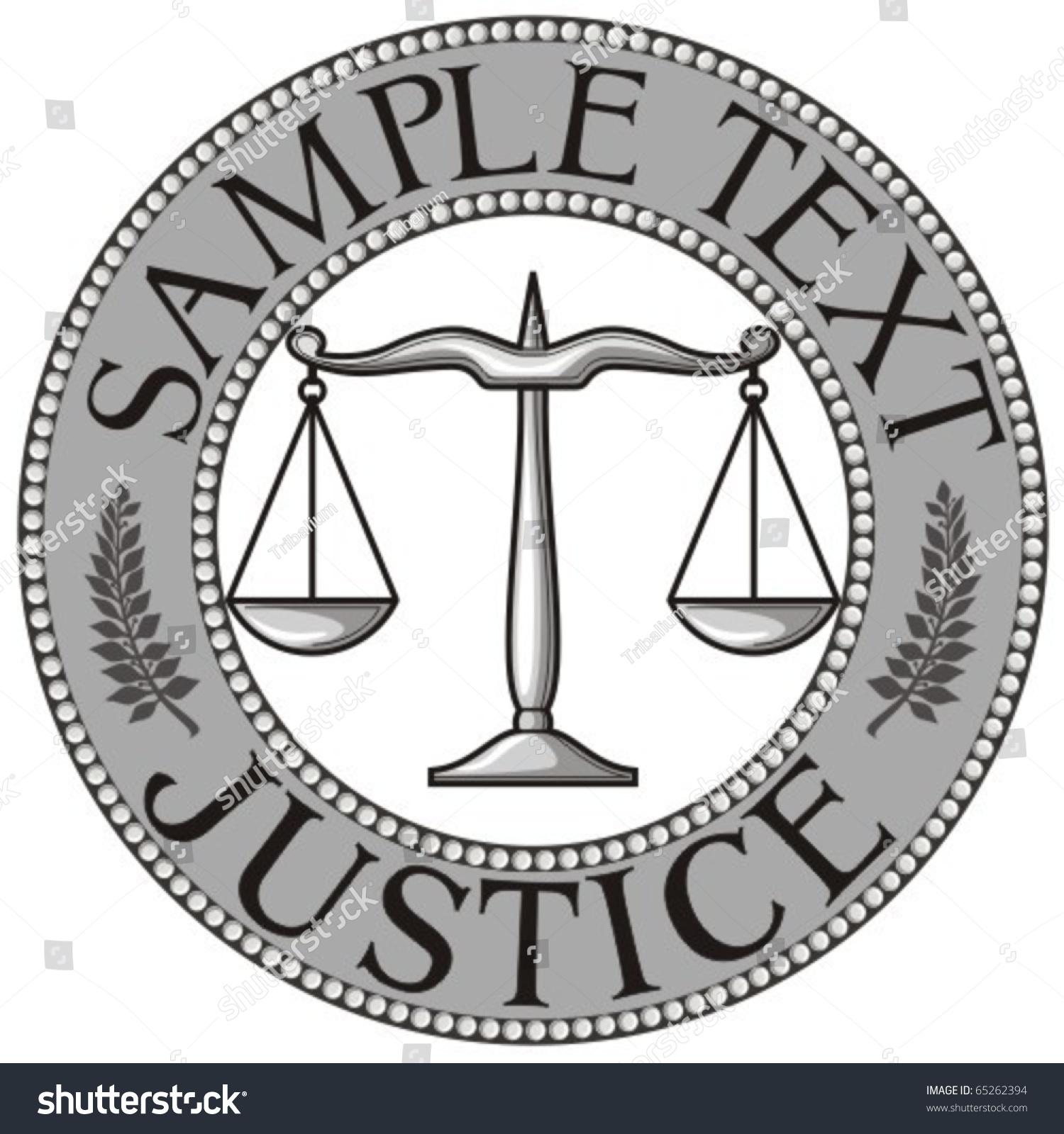 Scales Justice Seal Symbol Stock Vector Royalty Free 65262394
