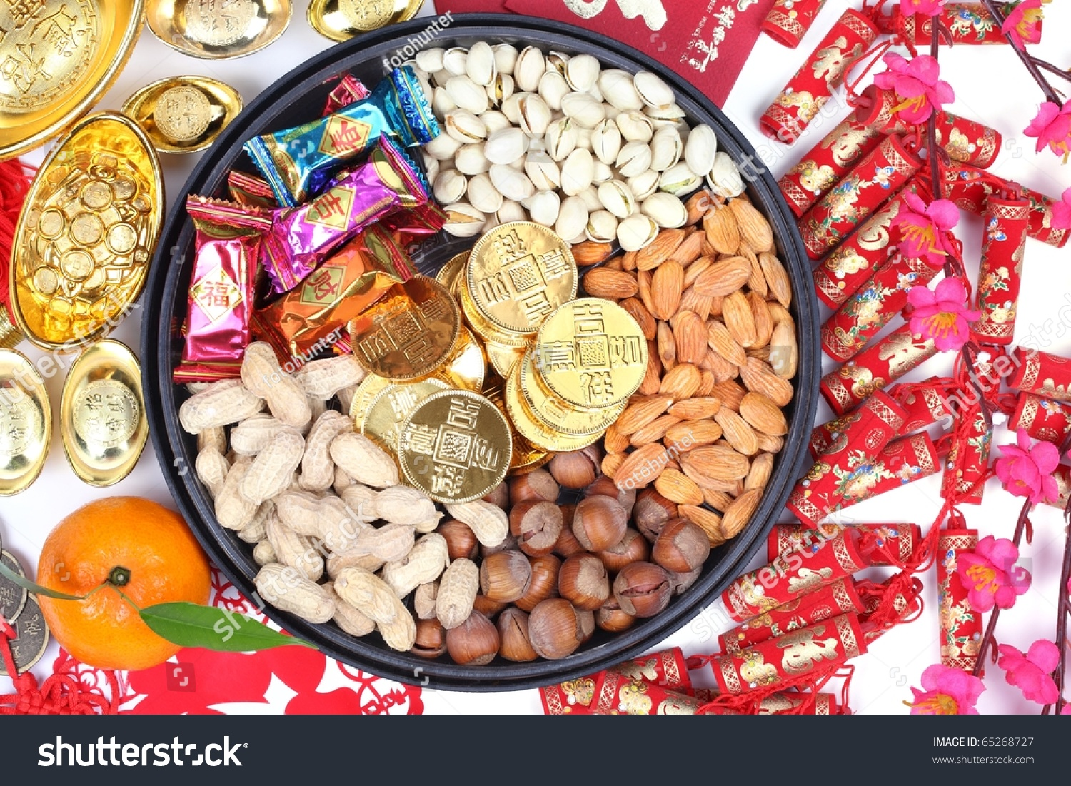 chinese new year ornaments and candy box - Chinese New Year Candy