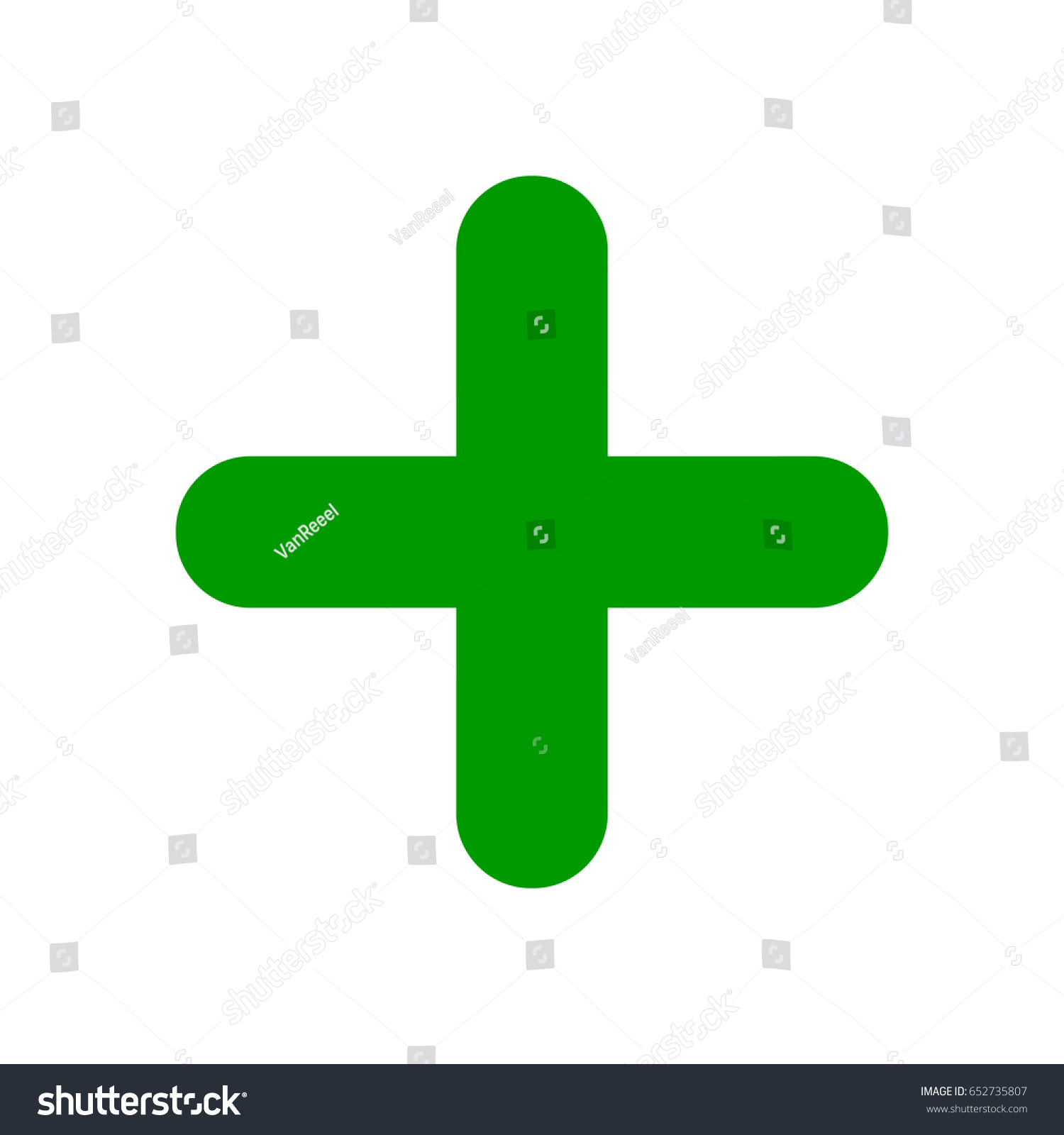 Green Plus Sign Positive Symbol Isolated Stock Vector Royalty Free