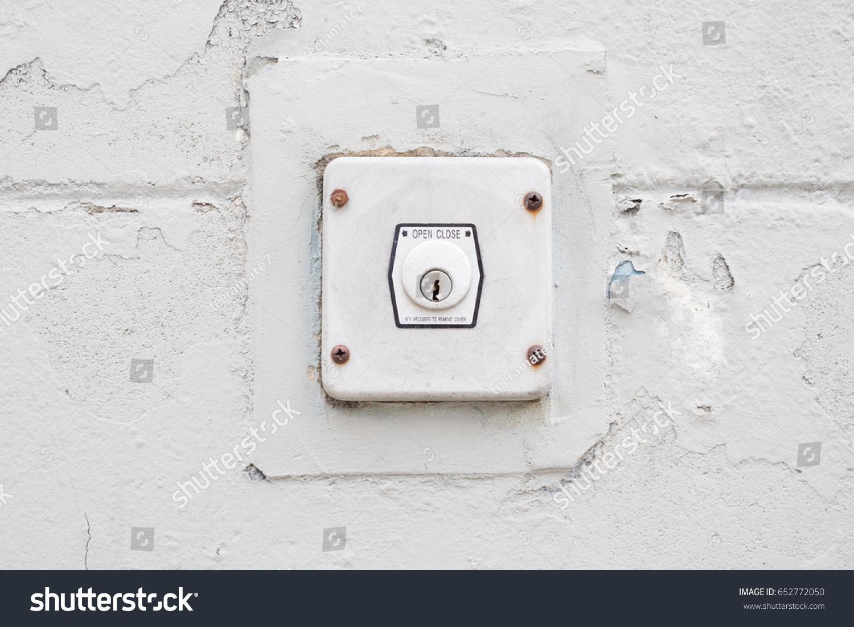 Garage Door Opener Key Switch Stock Photo 652772050 Shutterstock