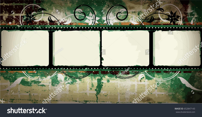 Grunge Frame Distressed Texture Large High Stock-Vektorgrafik ...