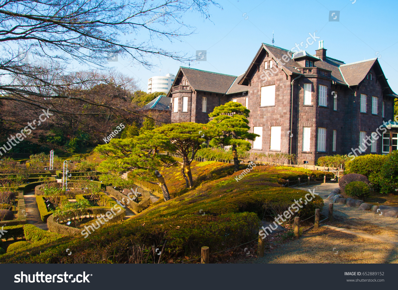Old Westernstyle Mansion Kyu Furukawa Gardens Tokyo Stock Photo ...