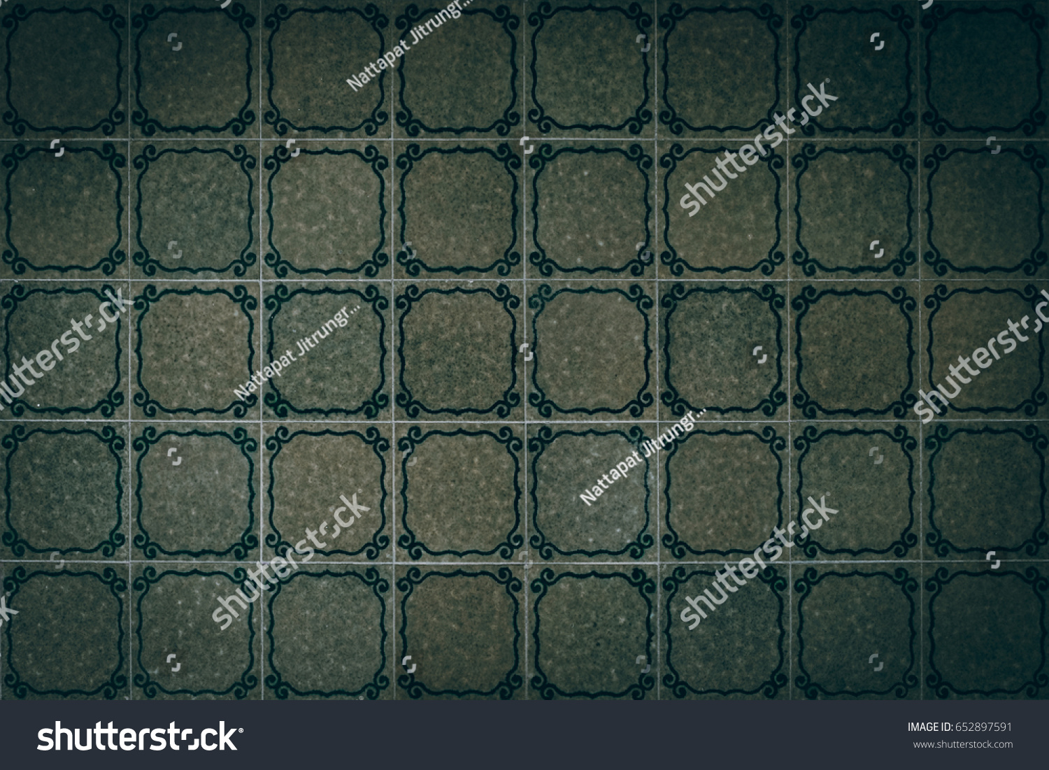 Top view retro chinese green floor stock photo 652897591 top view of retro chinese green floor tiles dailygadgetfo Choice Image