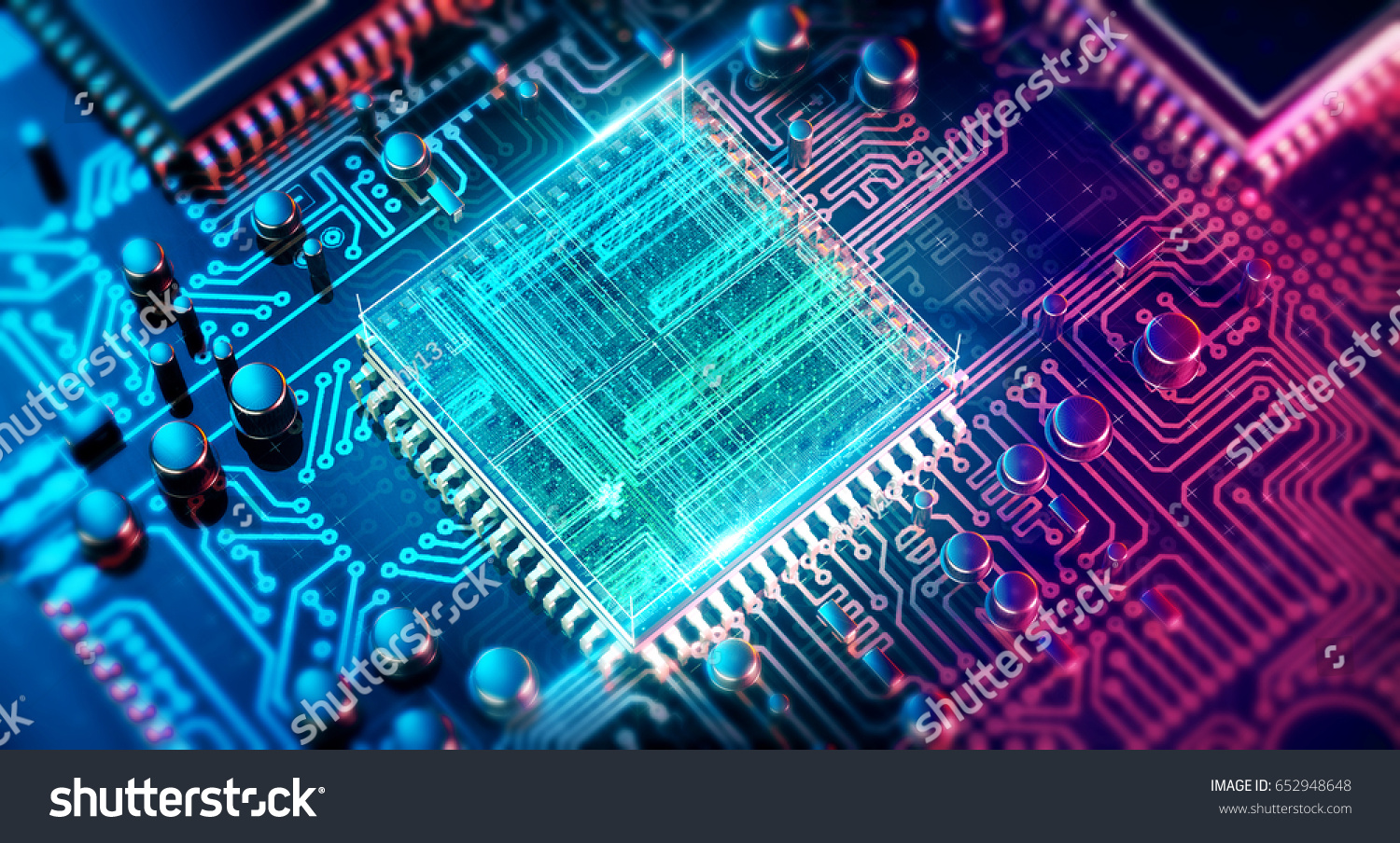 Royalty Free Stock Illustration of Circuit Board Electronic Computer ...