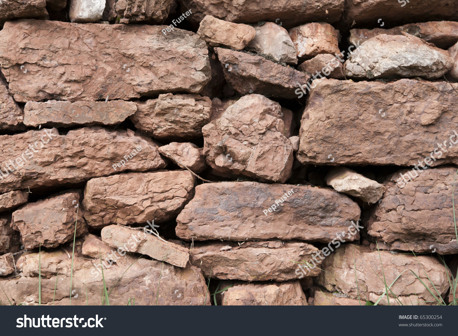 Texturas del campo pared de piedra stock photo 65300254 for Texturas de paredes