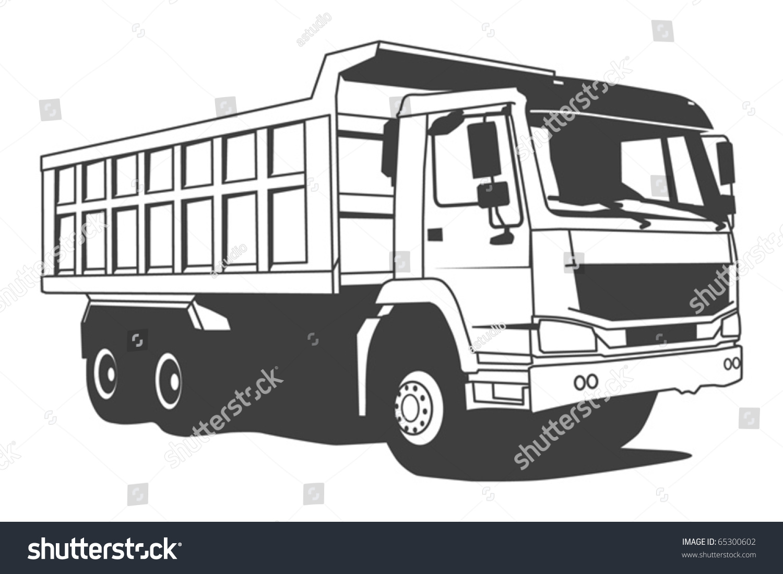 dump truck hand draw illustration vector stock vector 65300602