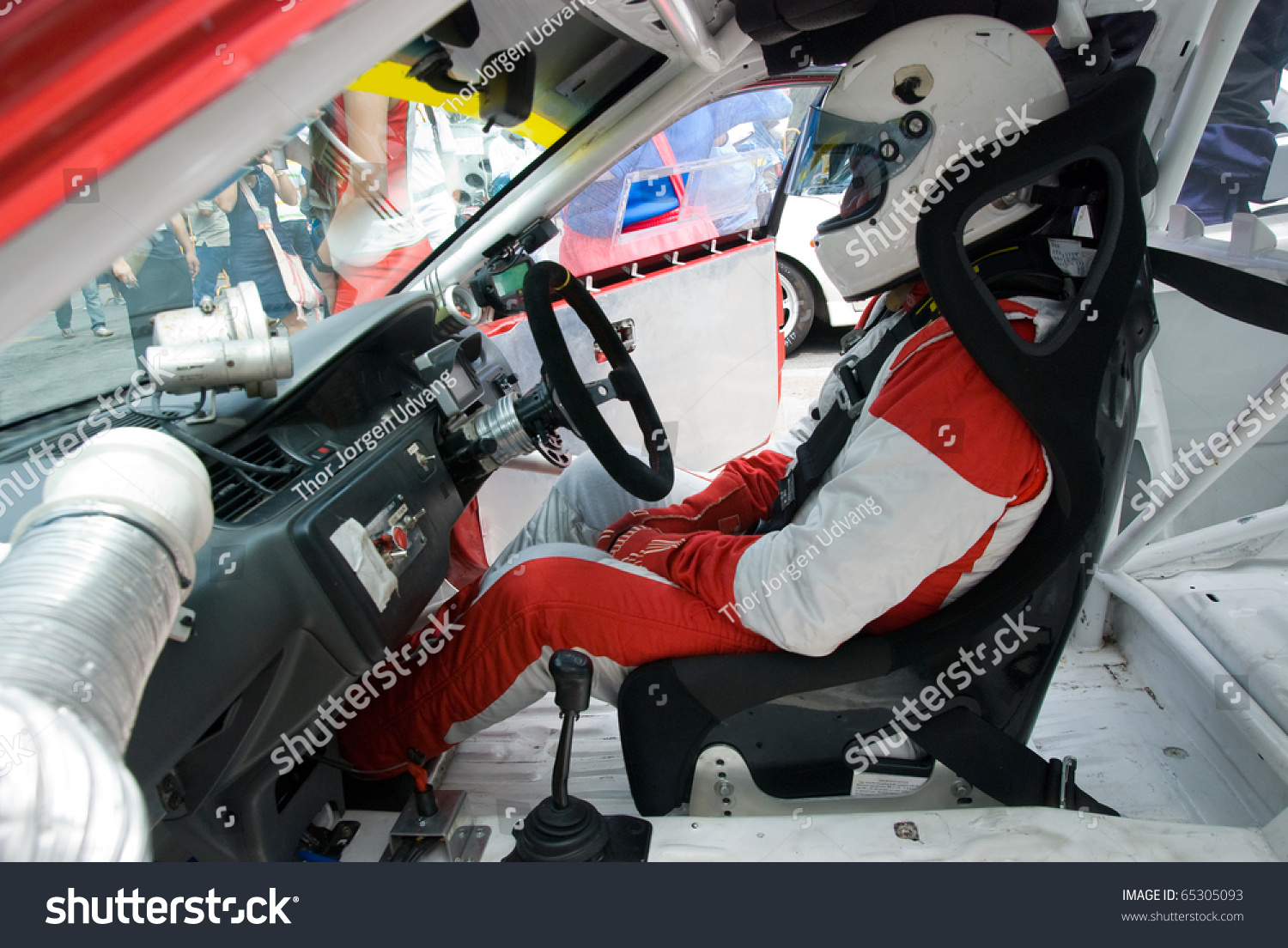 interior of touring car for racing on race circuits with driver in the seat stock photo 65305093. Black Bedroom Furniture Sets. Home Design Ideas
