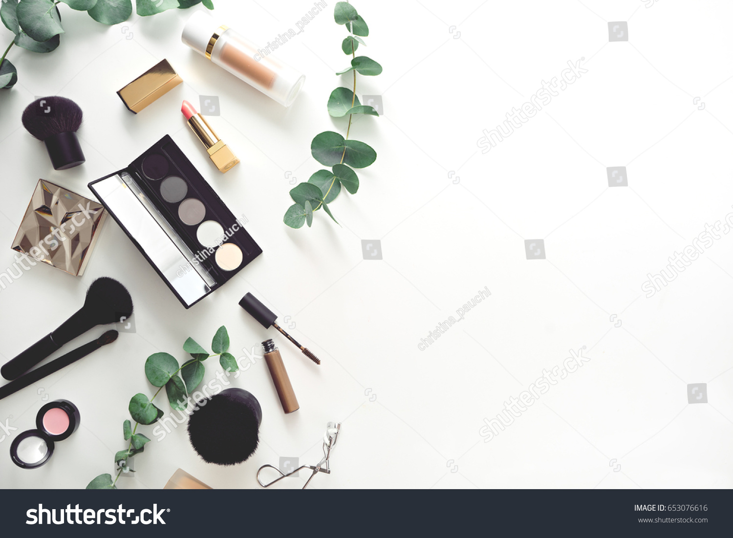 image of make up products on white background  #653076616