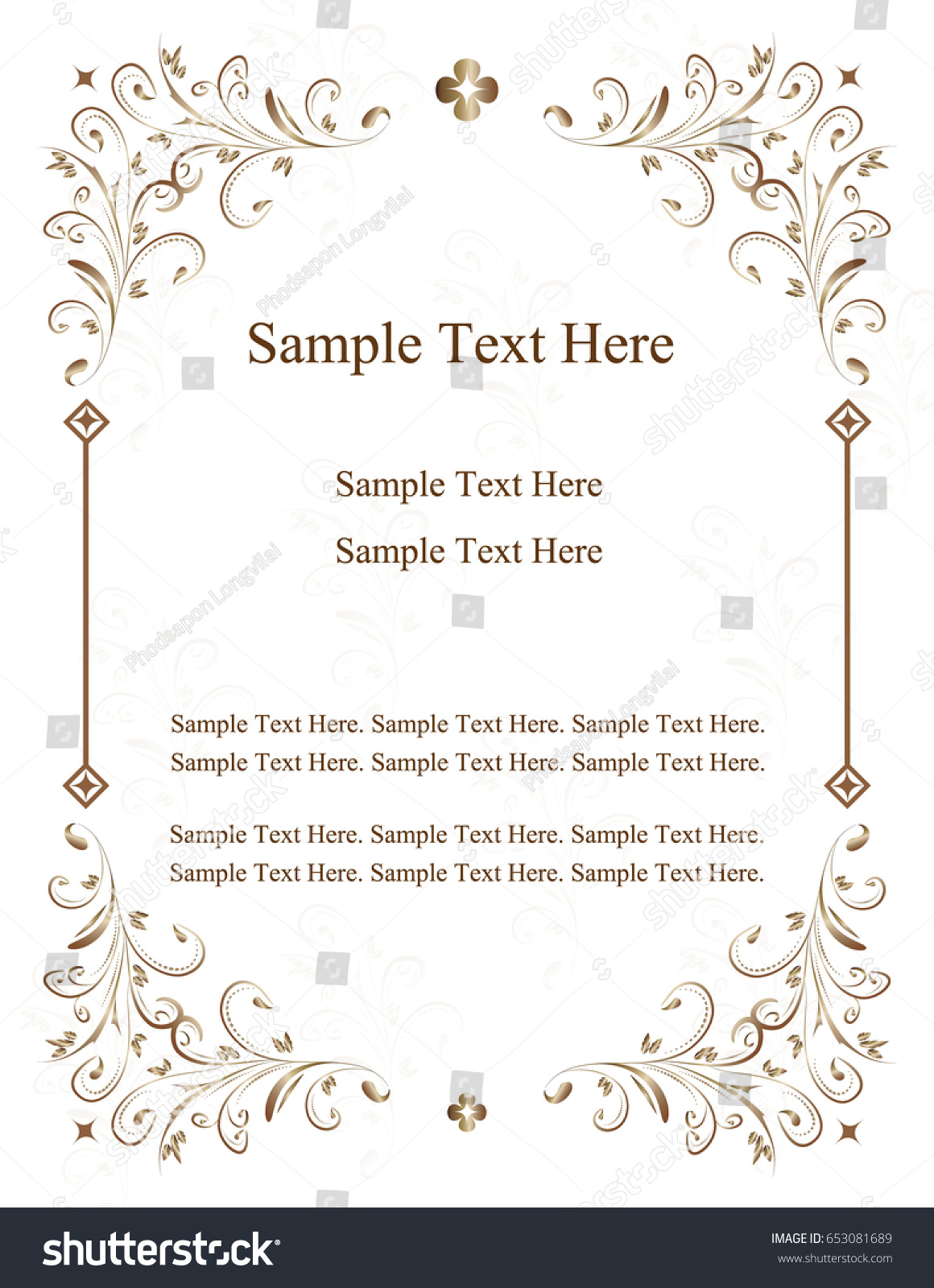 Wedding card greeting cards wedding invitation stock vector wedding card greeting cards wedding invitation invitation with victorian ornaments beautiful kristyandbryce Choice Image