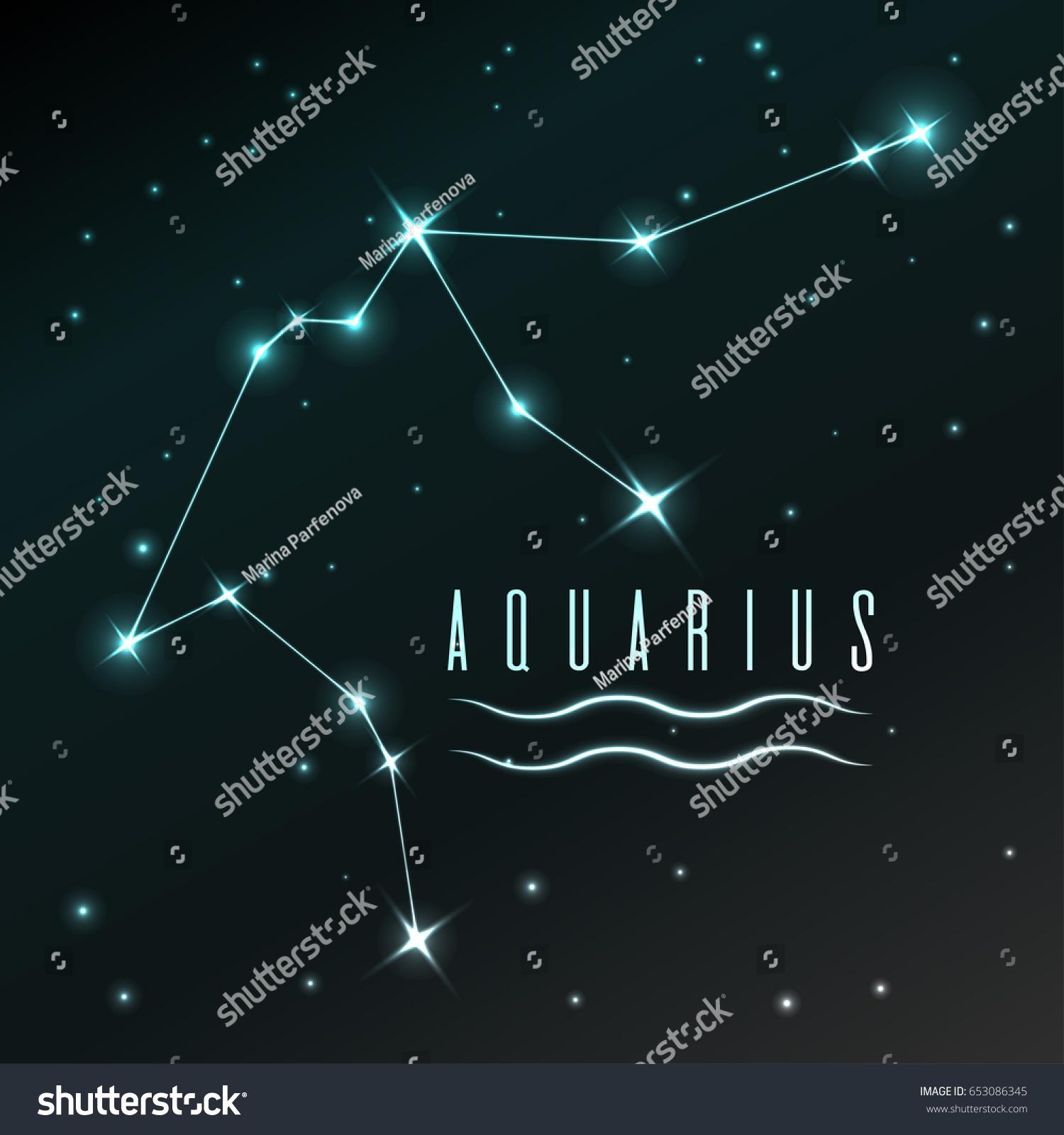 Air Symbol Aquarius Zodiac Sign Horoscope Stock Vector Royalty Free