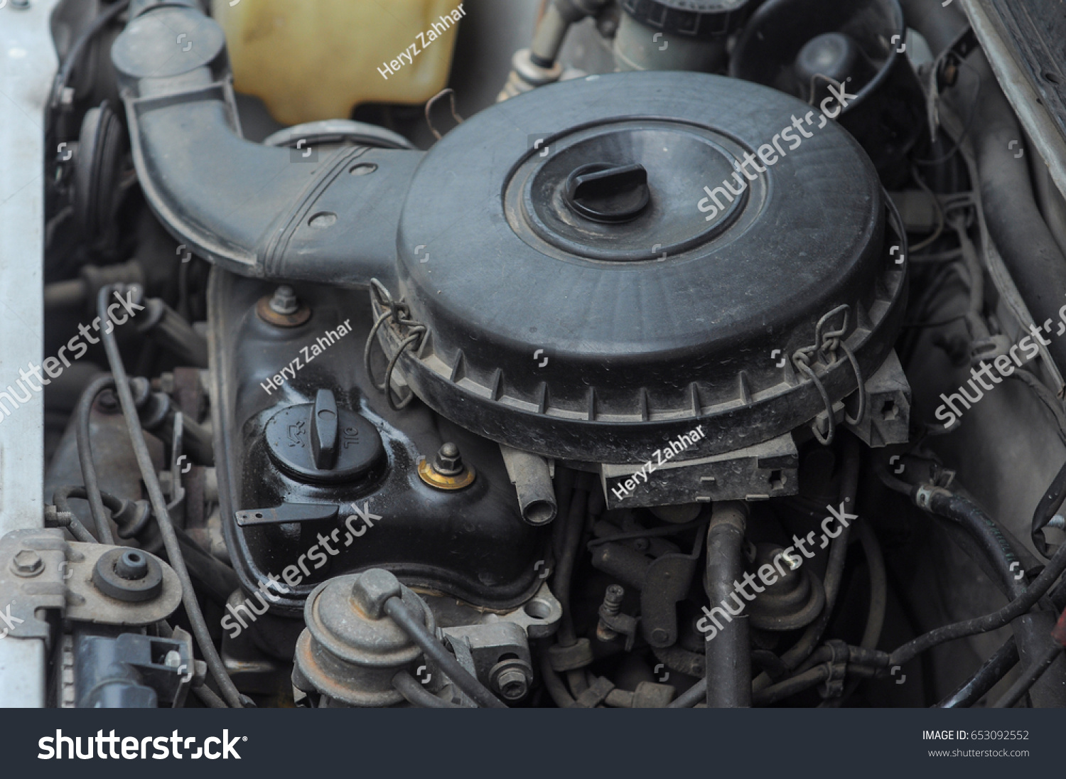 Old Car Engine Stock Photo (100% Legal Protection) 653092552 ...