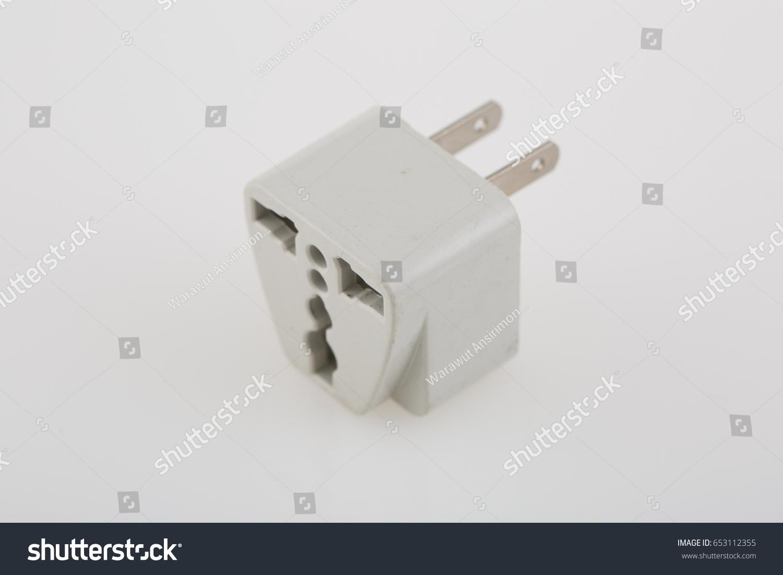 Three Way Plug Socket Adapter Stock Photo (Edit Now) 653112355 ...