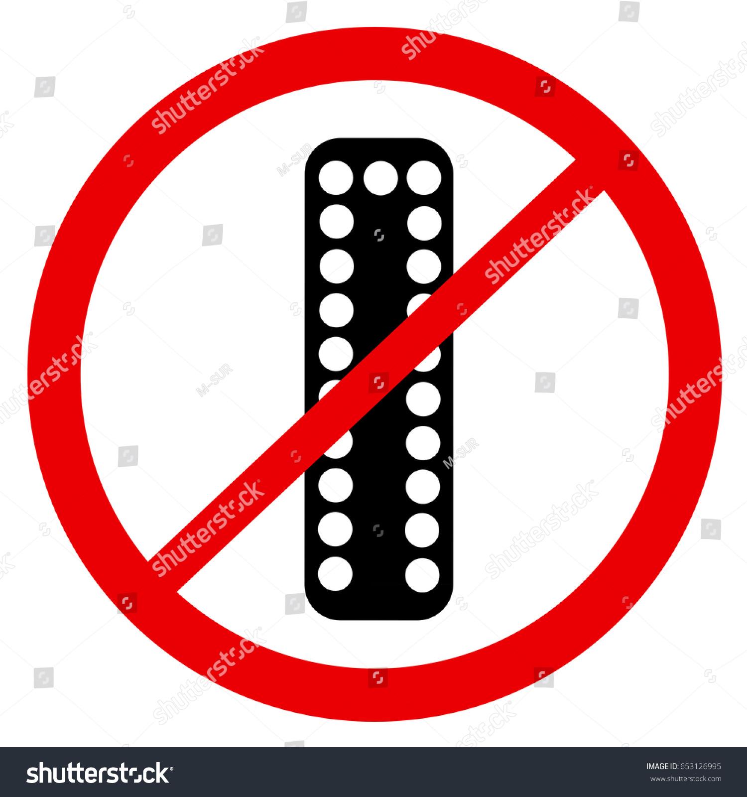 Vector Symbol Ban Prohibition Use Prescribe Stock Vector Royalty