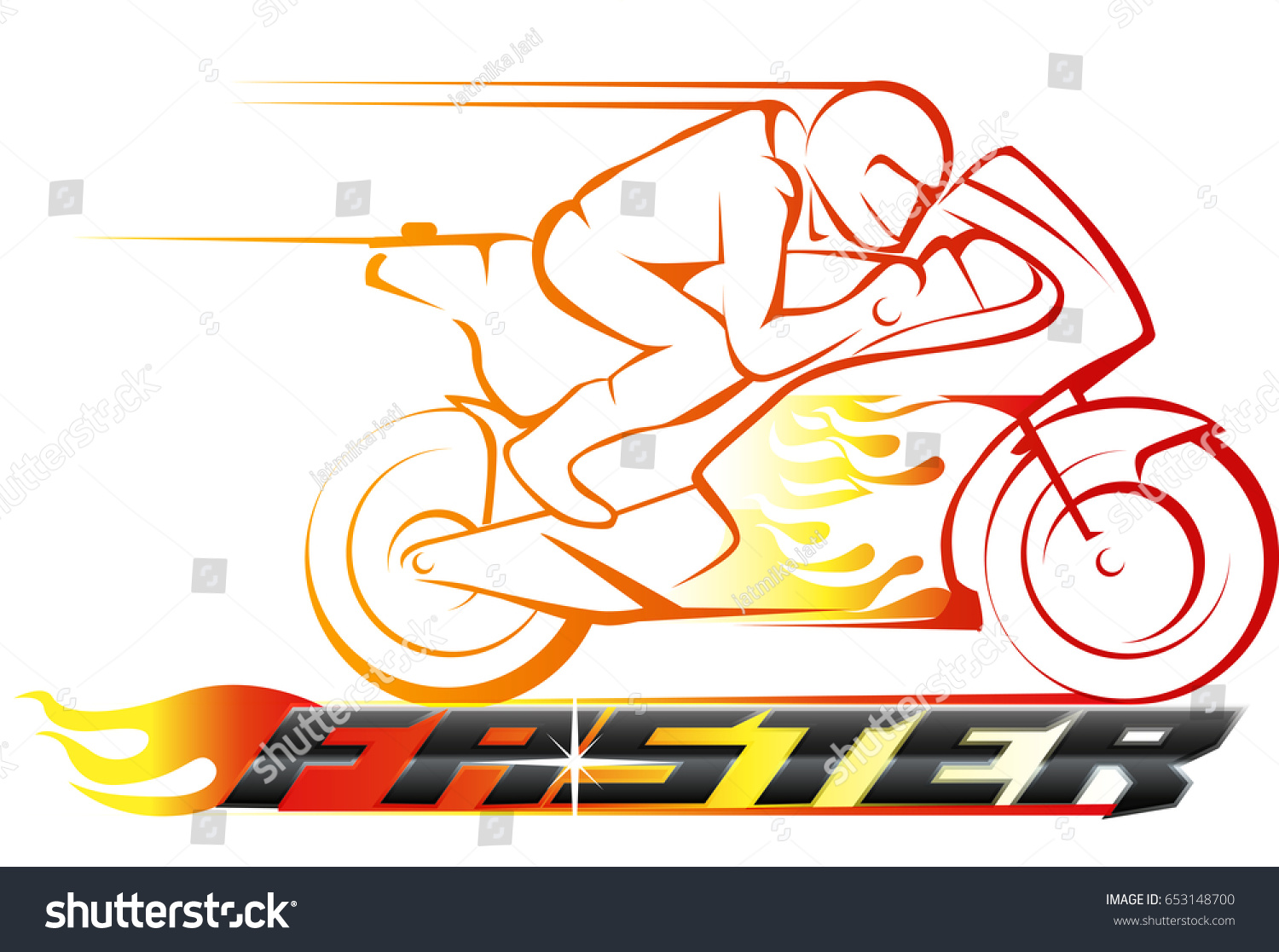 Vector abstract motor racing on fire stock vector 653148700