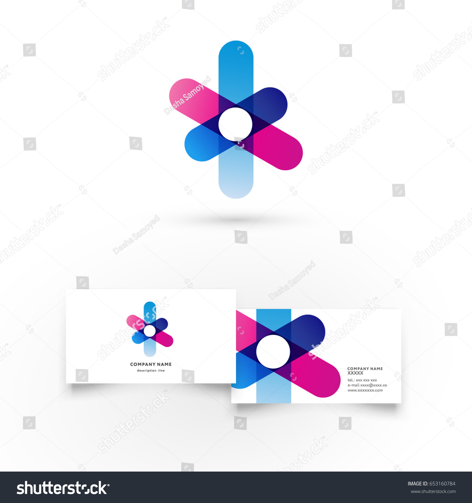 Flower Modern Icon Design Logo Element Stock Vector