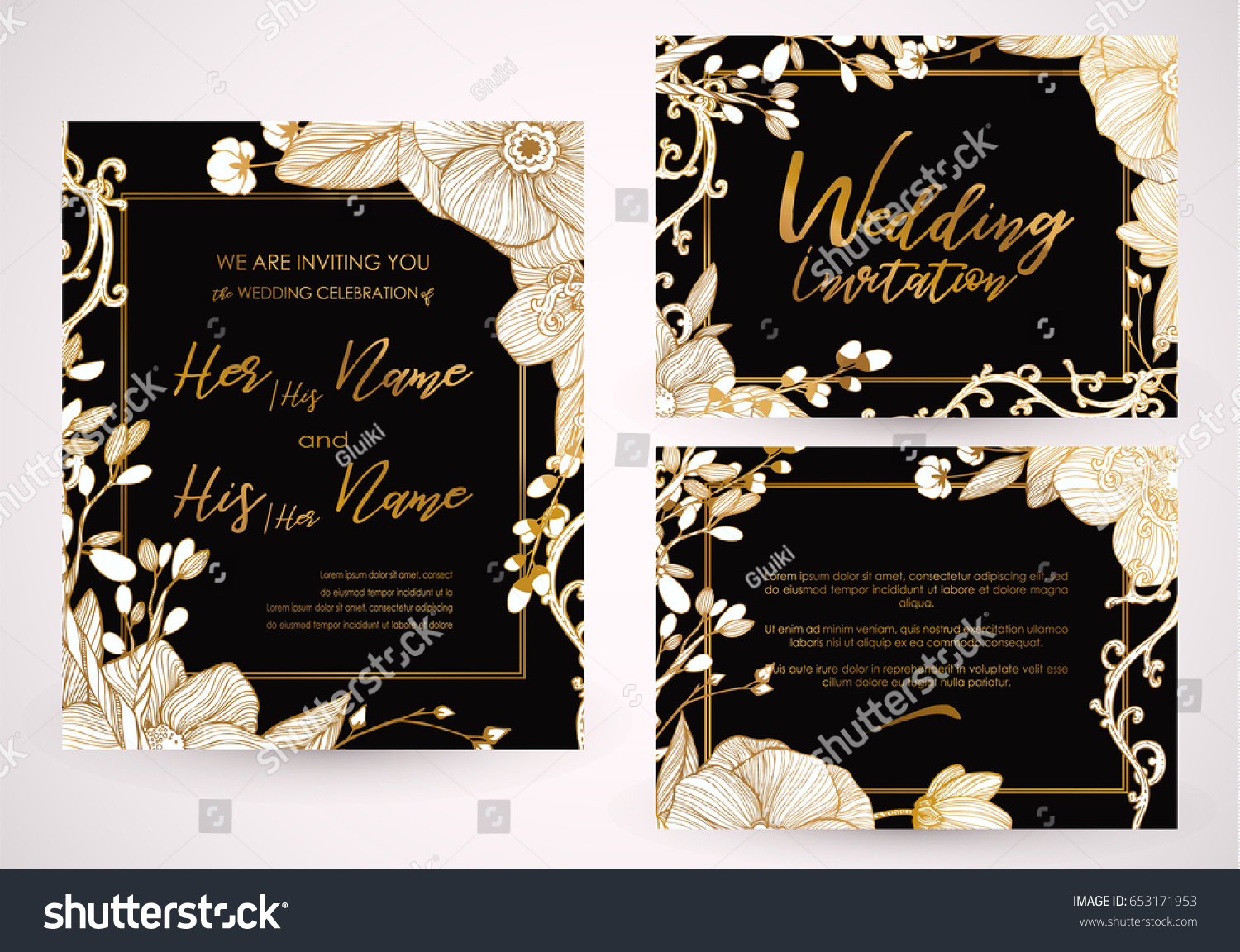Cute Spring Summer Template Wedding Valentines Vector – Spring or Summer Theme Invitation Cards