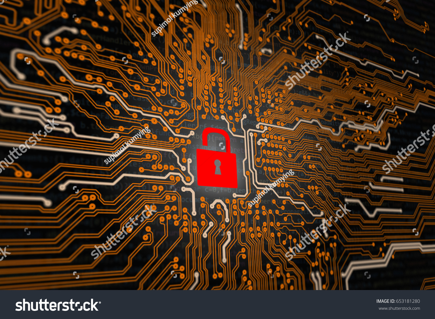 hacked symbol on computer orange technology stock illustration 653181280hacked symbol on computer orange technology background circuit board with an open red padlock 3d