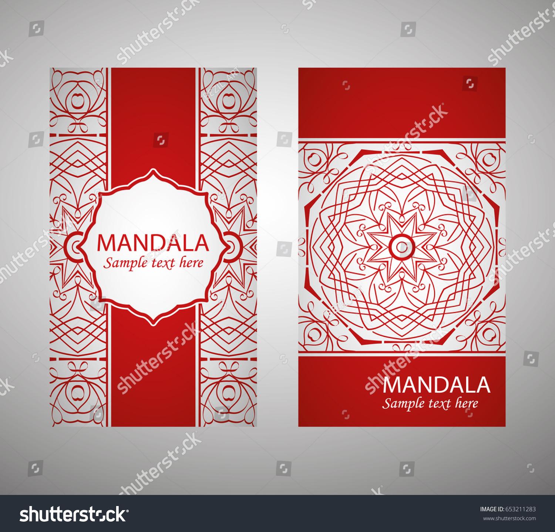 Flyer Flyer Cover Pattern Mandala Oriental Stock Vector 653211283 ...