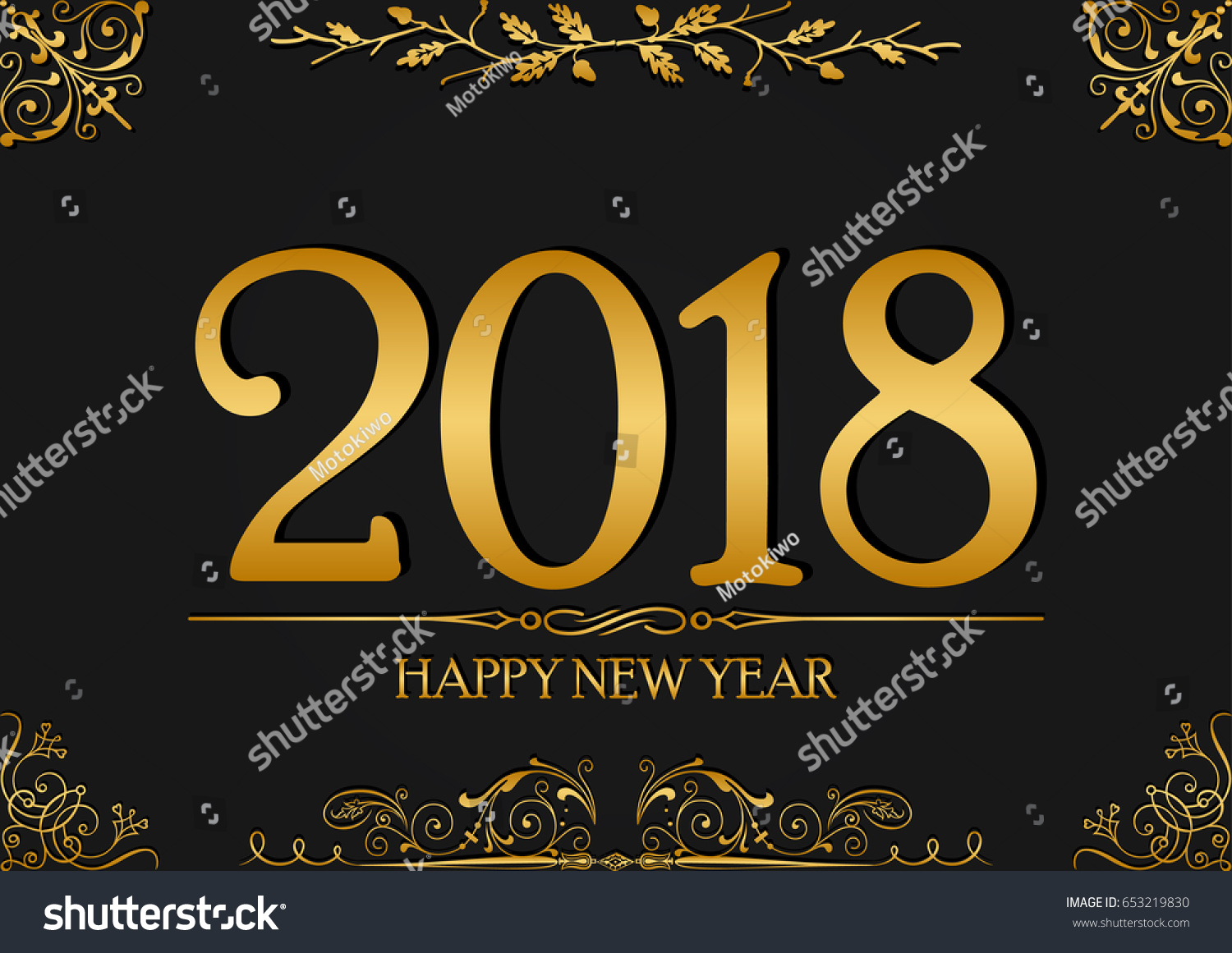 Happy new year 2018 greeting card stock vector royalty free happy new year 2018 greeting card background design luxury number and letter vector illustration design m4hsunfo