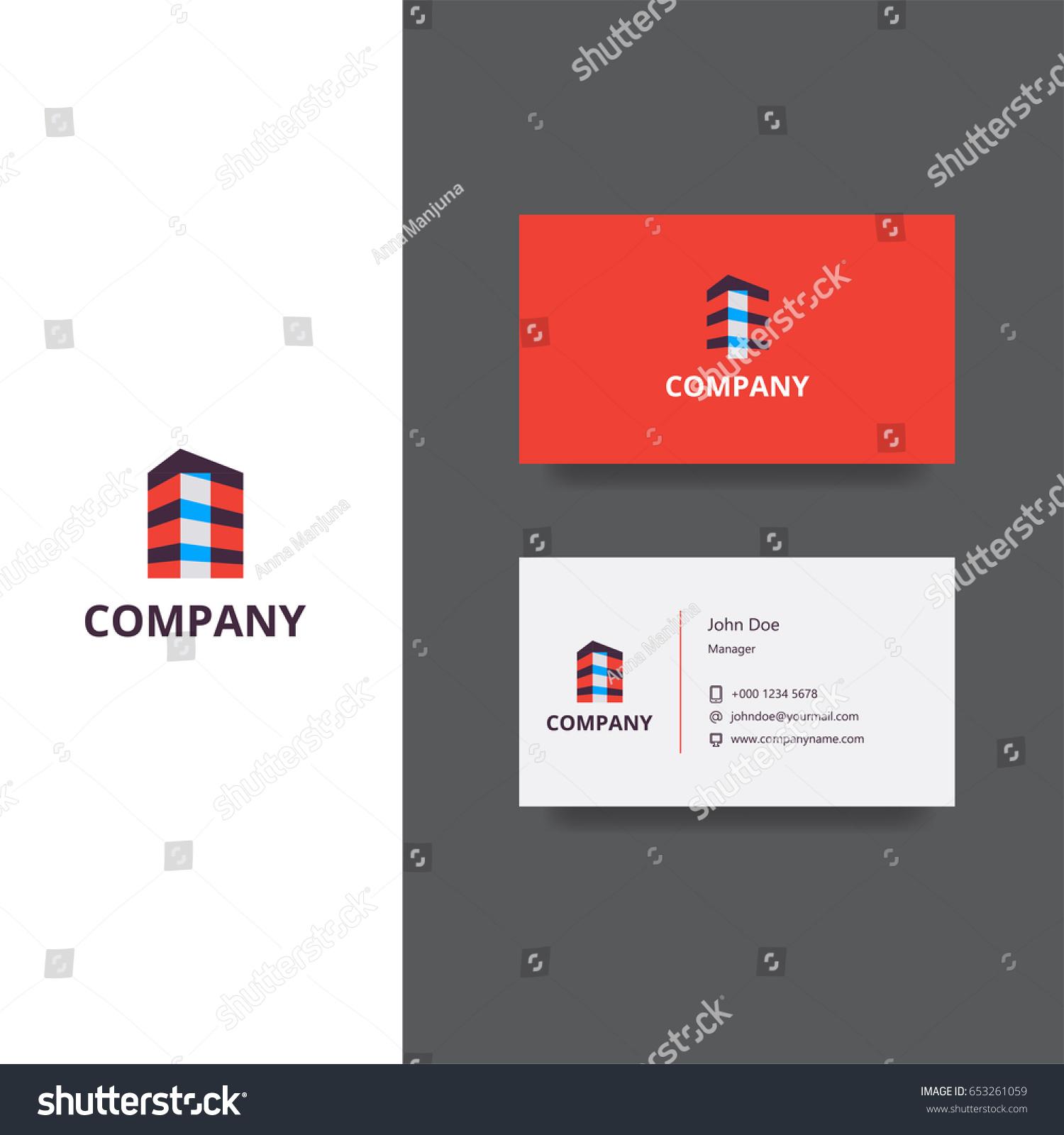 Architect Building Company Logo Business Card Stock Vector ...