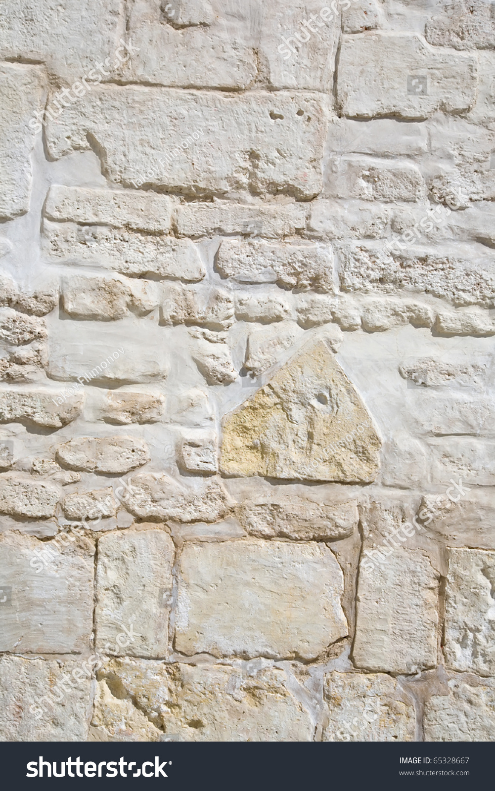 Vintage Stone Walls : Surface of vintage stone wall at old house stock photo