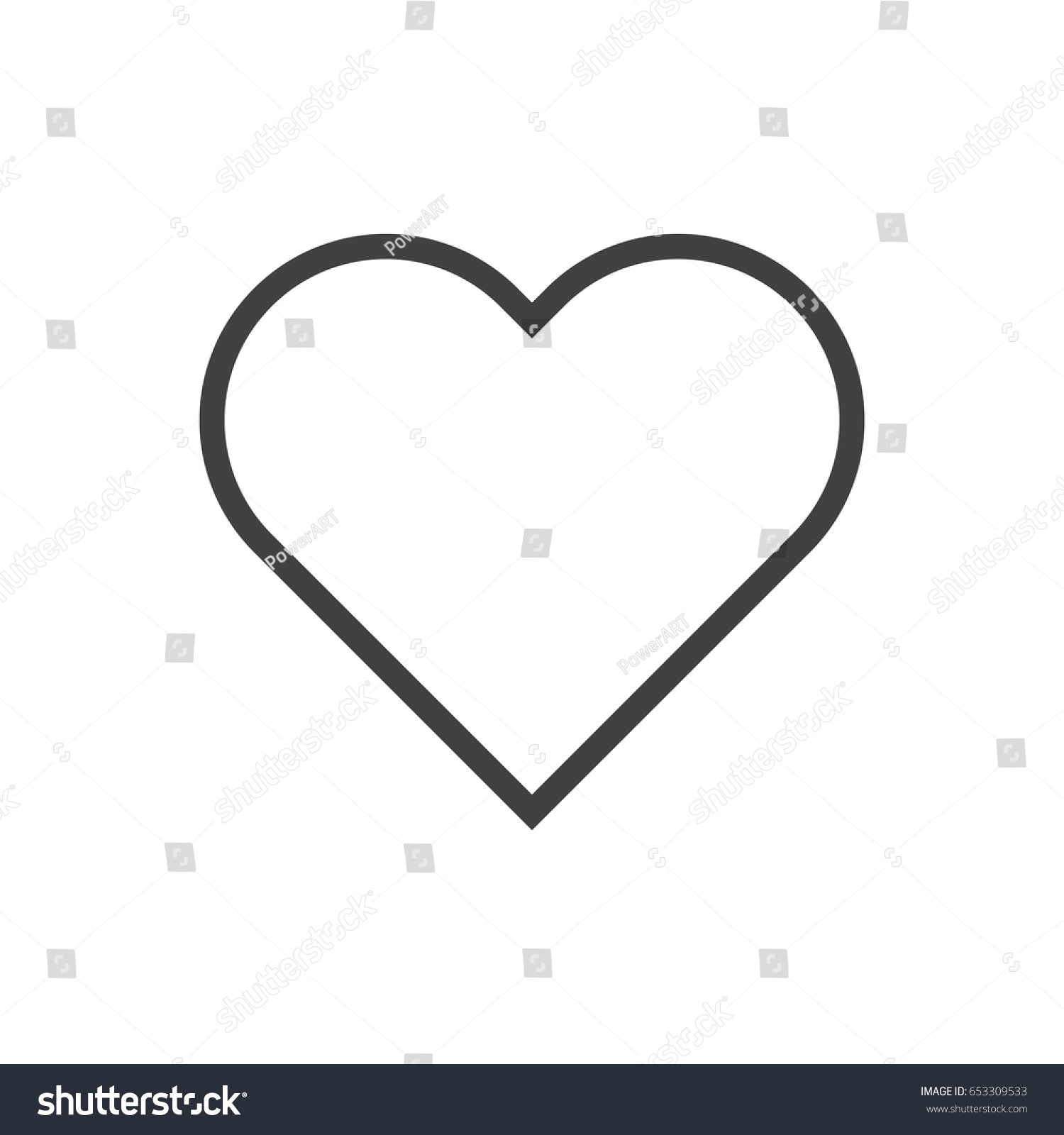 Isolted heart outline symbol on clean stock vector 653309533 isolted heart outline symbol on clean background vector soul element in trendy style buycottarizona Image collections