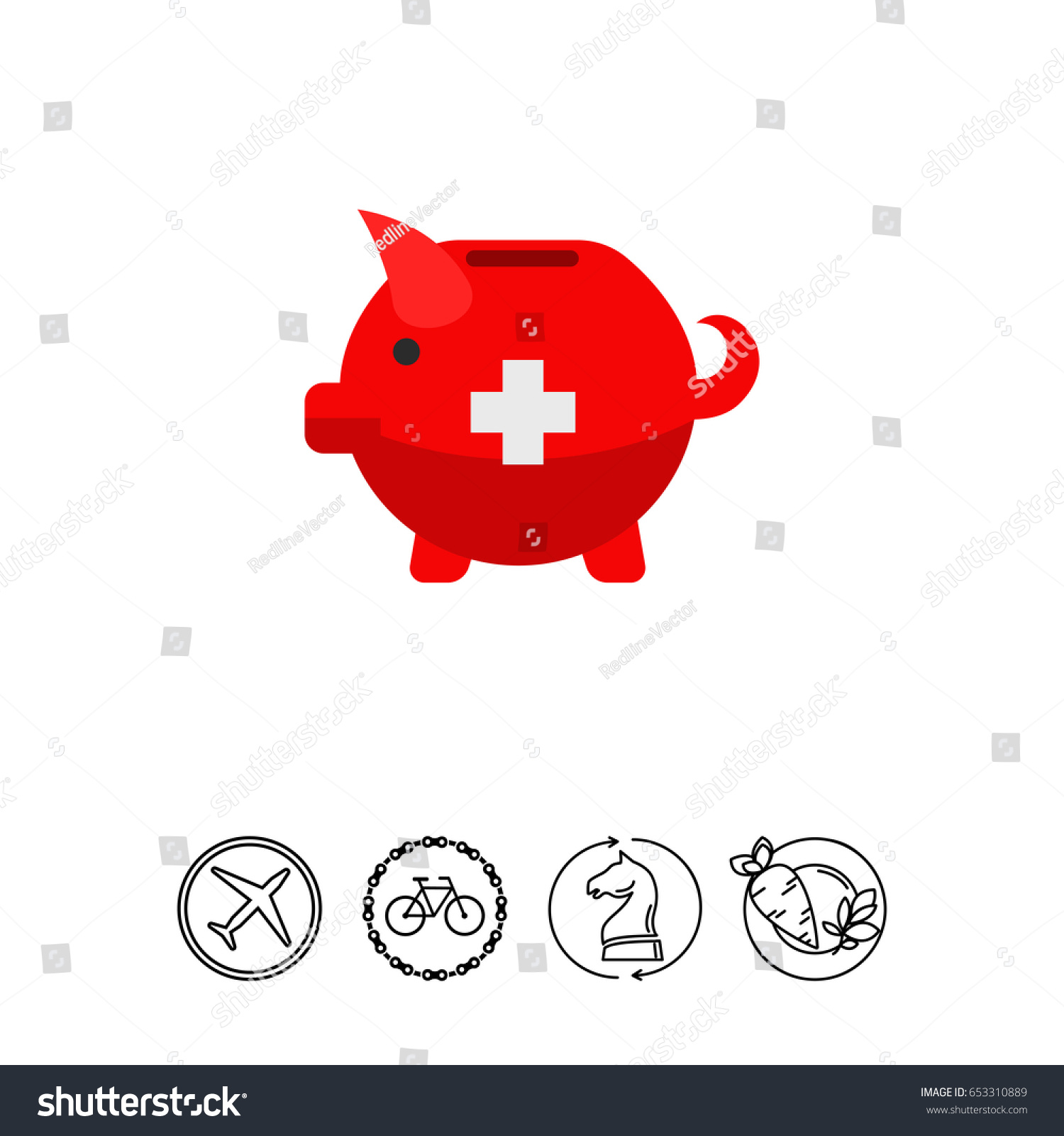 Swiss piggy bank vector icon stock vector 653310889 shutterstock swiss piggy bank vector icon buycottarizona Image collections