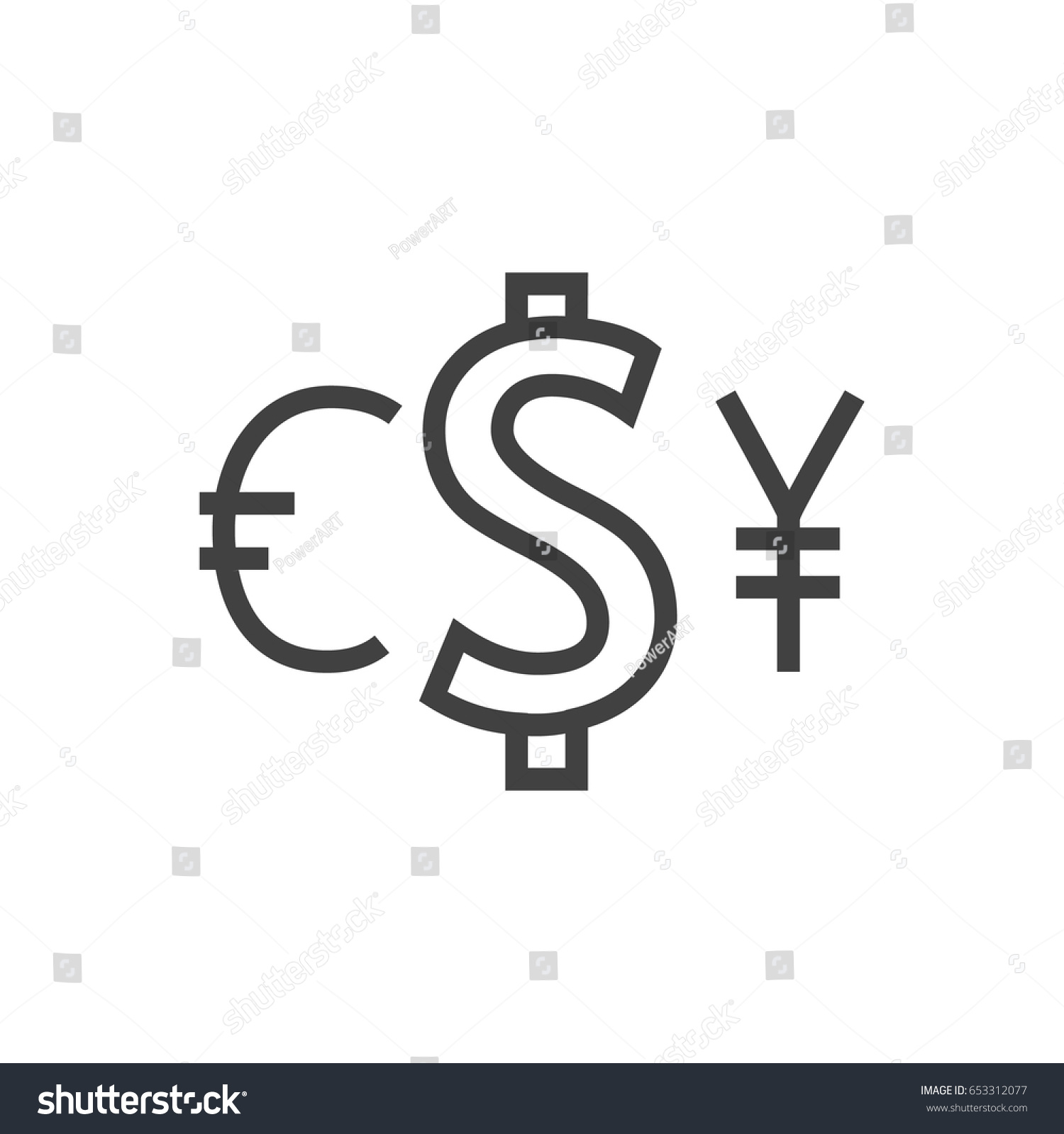 Isolted currency outline symbol on clean stock vector 653312077 isolted currency outline symbol on clean background vector exchange element in trendy style buycottarizona Gallery