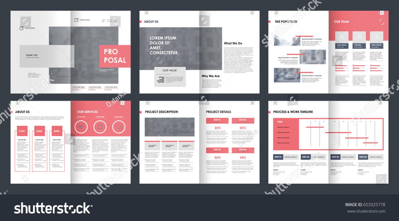 design proposal vector template brochures flyers stock vector